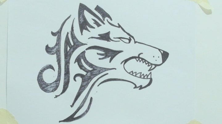 Cartoon Wolf Face Step By Simplexpict Co