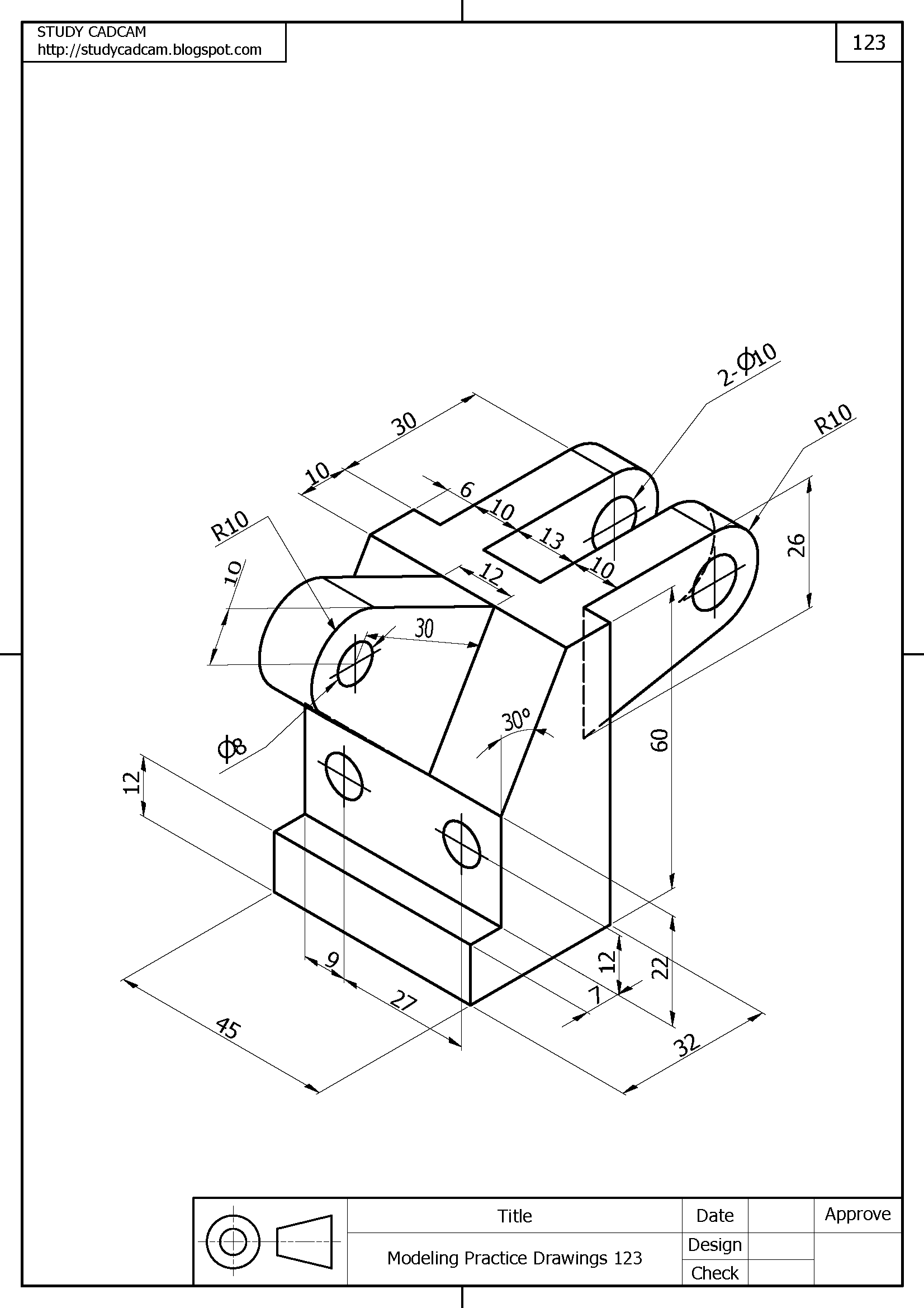 Autocad 3d Modeling Practice