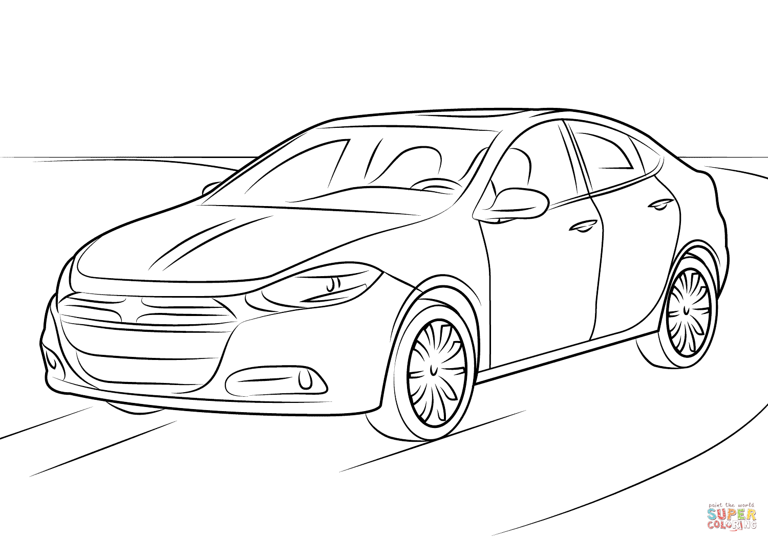 Dodge Challenger Drawing At Getdrawings