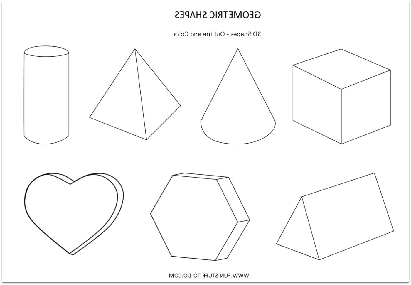 3 Dimensional Shapes Drawing At Getdrawings