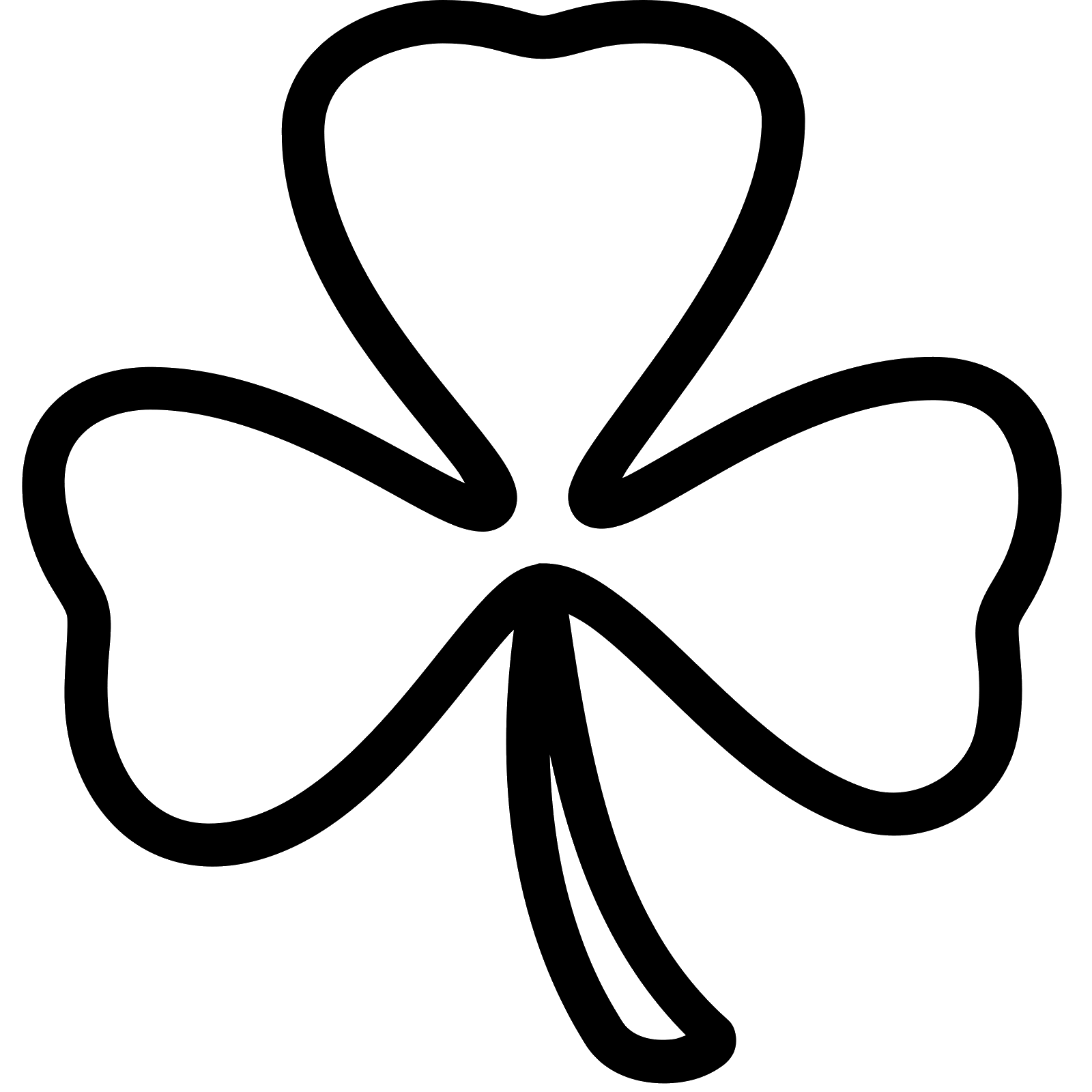 3 Leaf Clover Drawing At Getdrawings