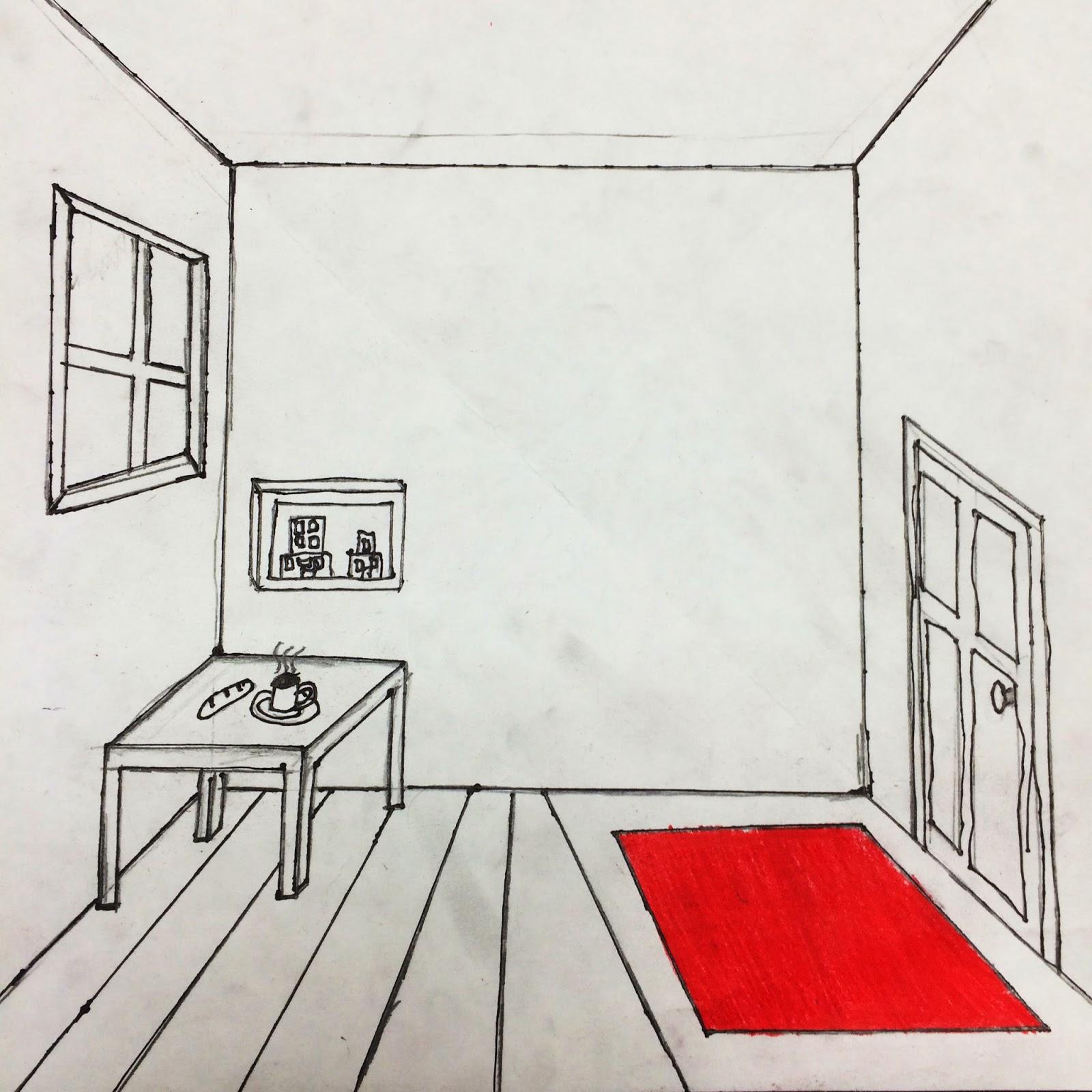 3d Bedroom Drawing At Getdrawings