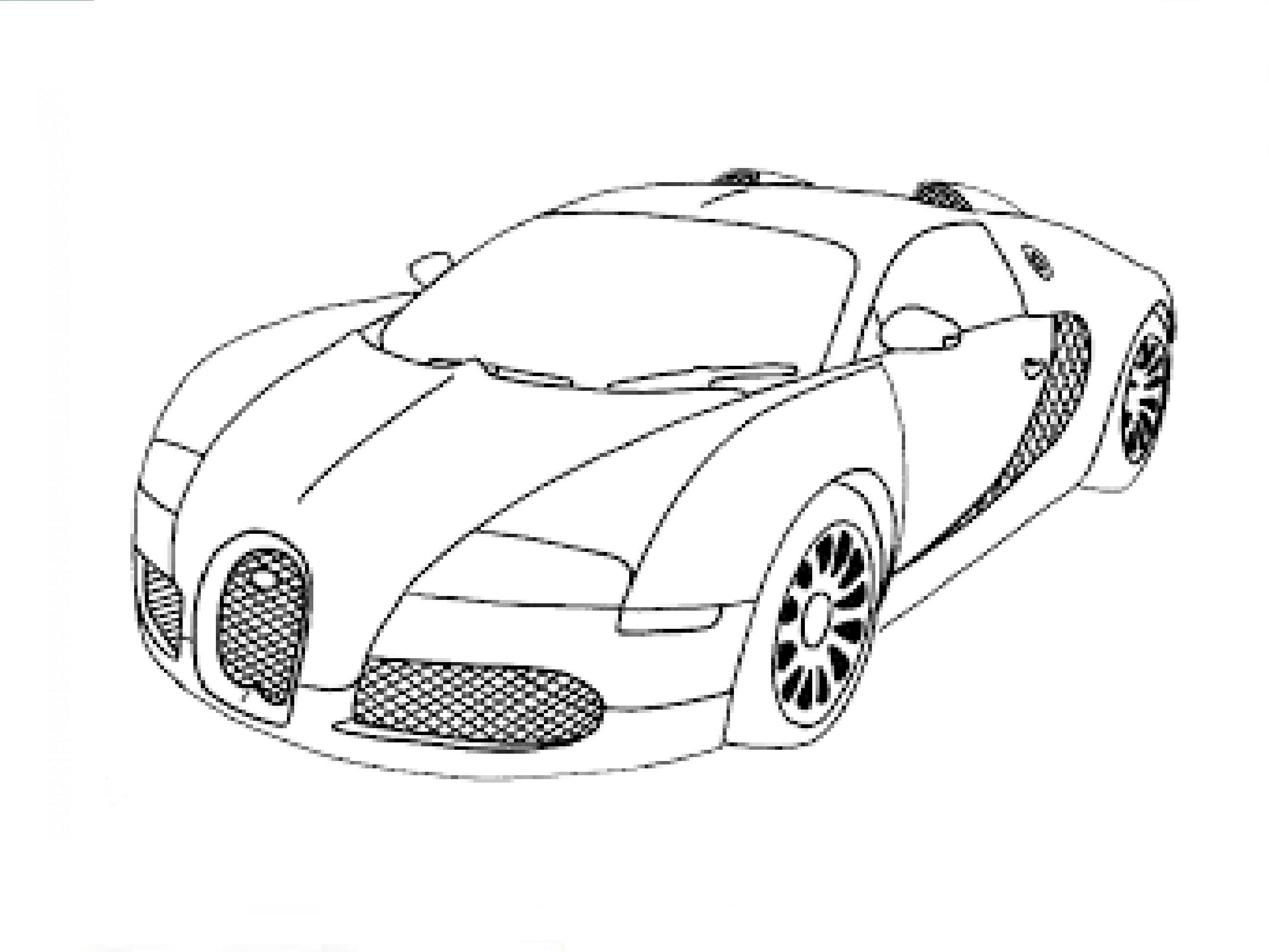 3d Car Drawing At Getdrawings