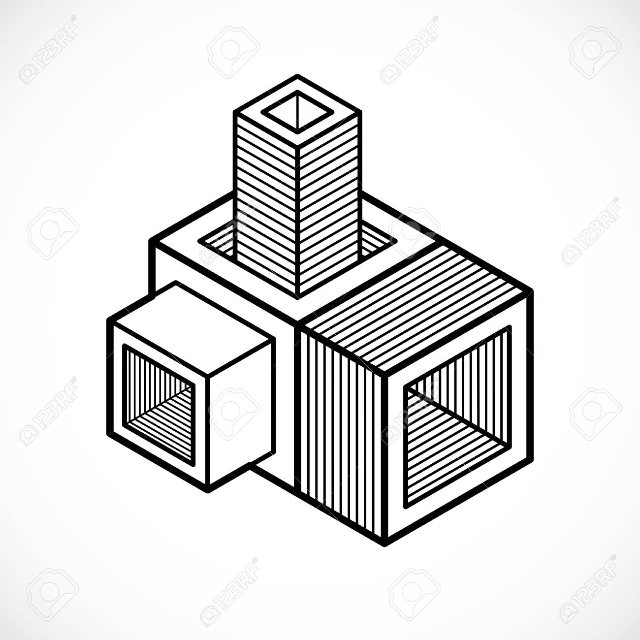 3d Cube Drawing At Getdrawings