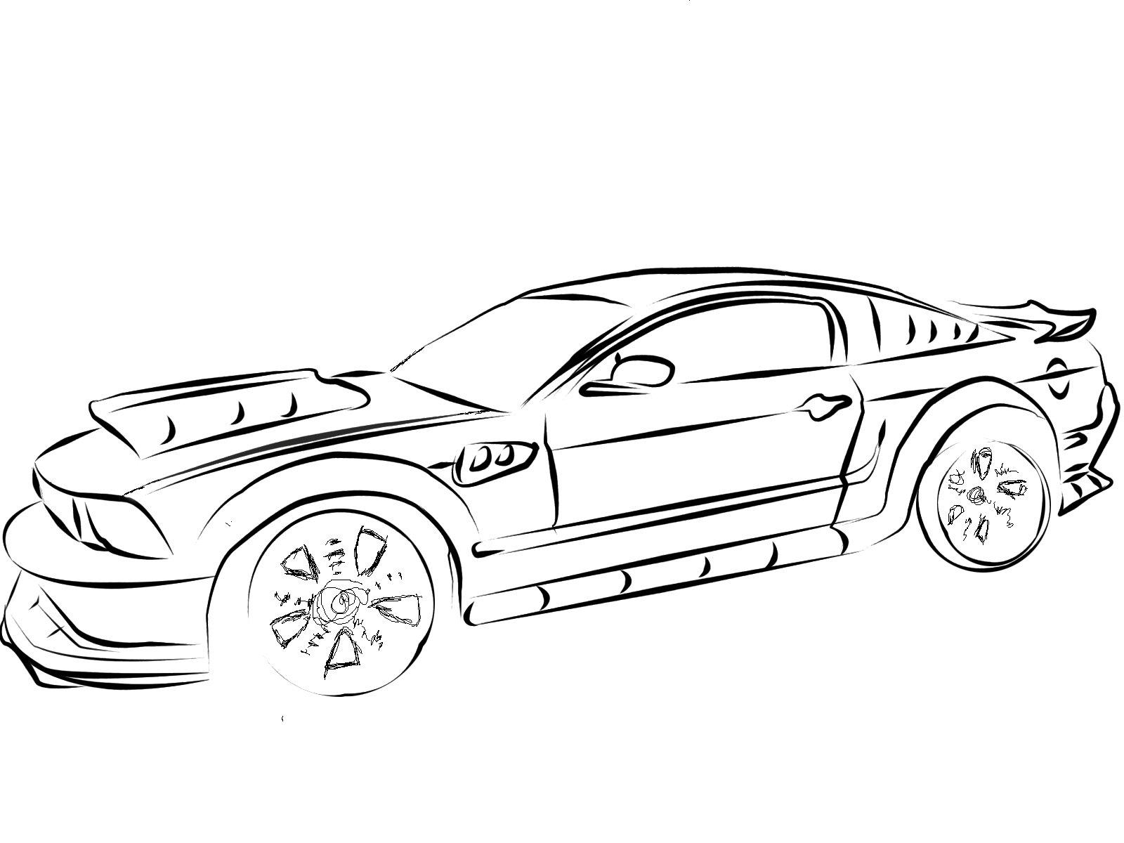 67 Mustang Drawing At Getdrawings