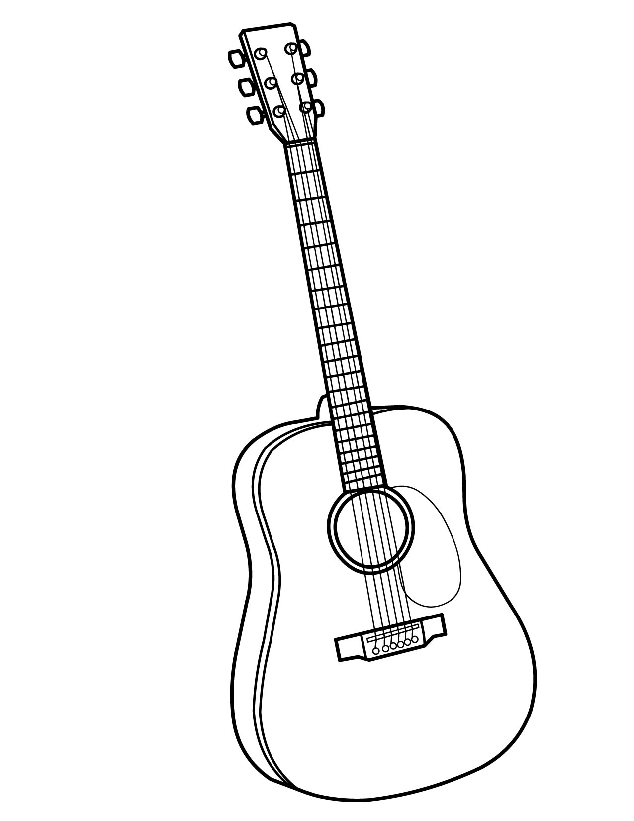 Acoustic Guitar Line Drawing At Getdrawings