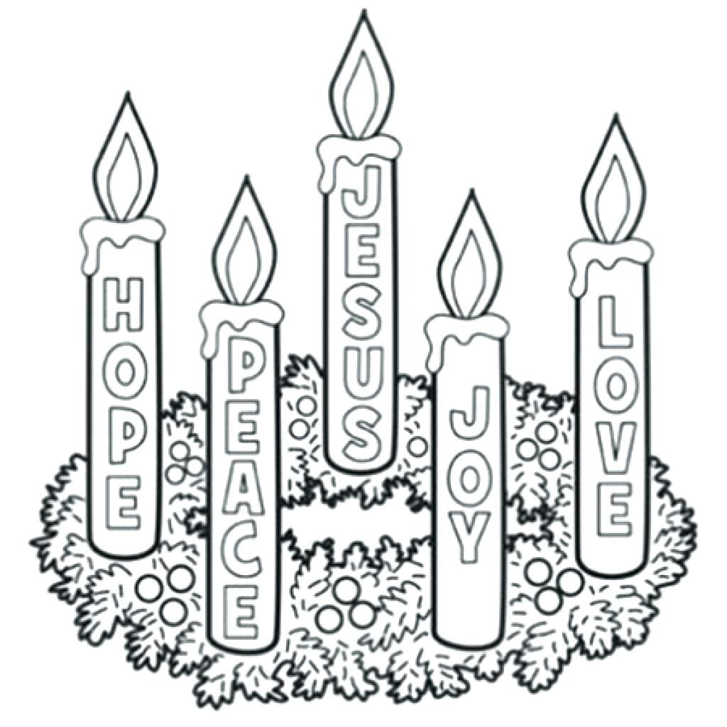 Advent Wreath Drawing At Getdrawings