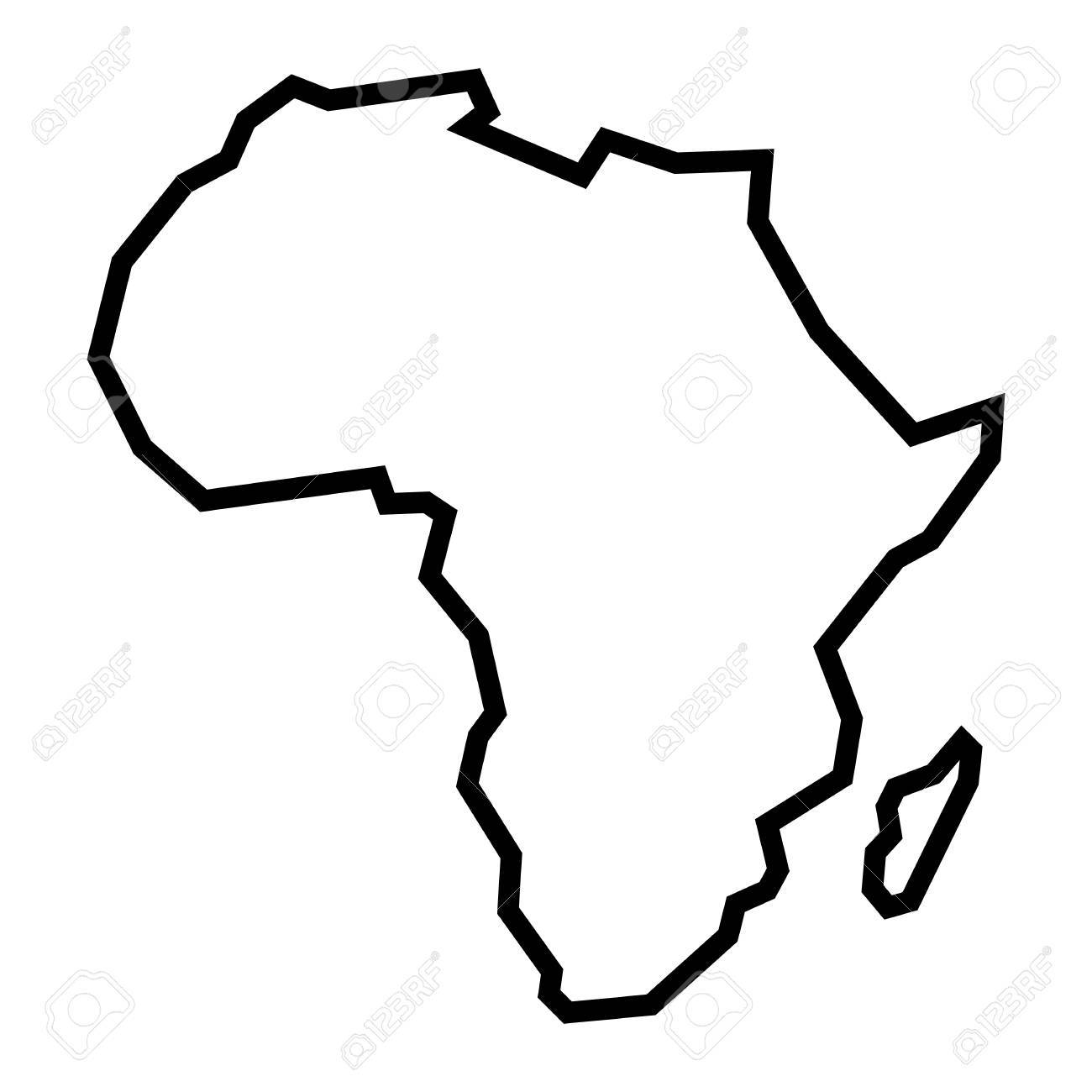 African Continent Drawing At Getdrawings