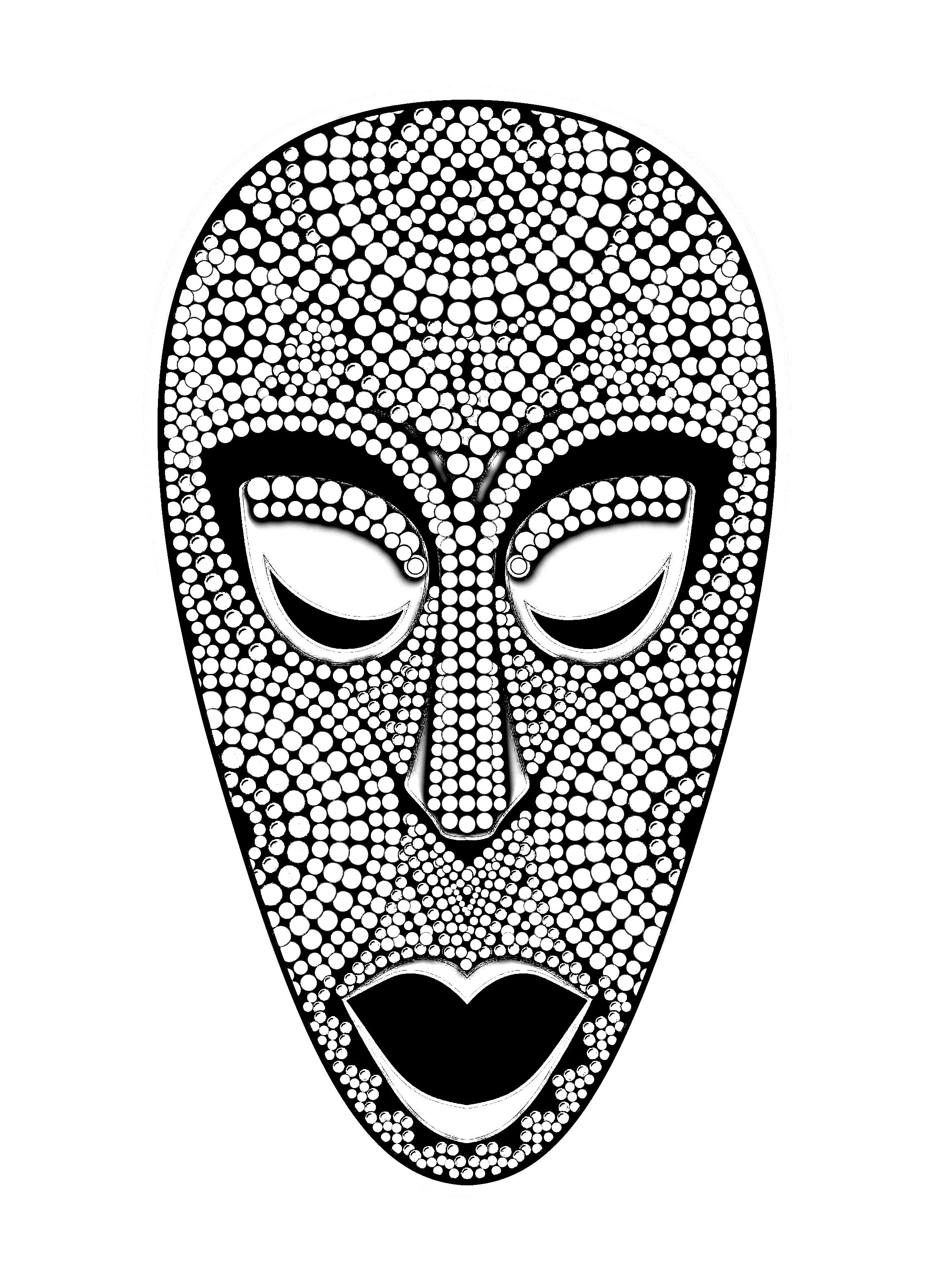 African Mask Drawing At Getdrawings