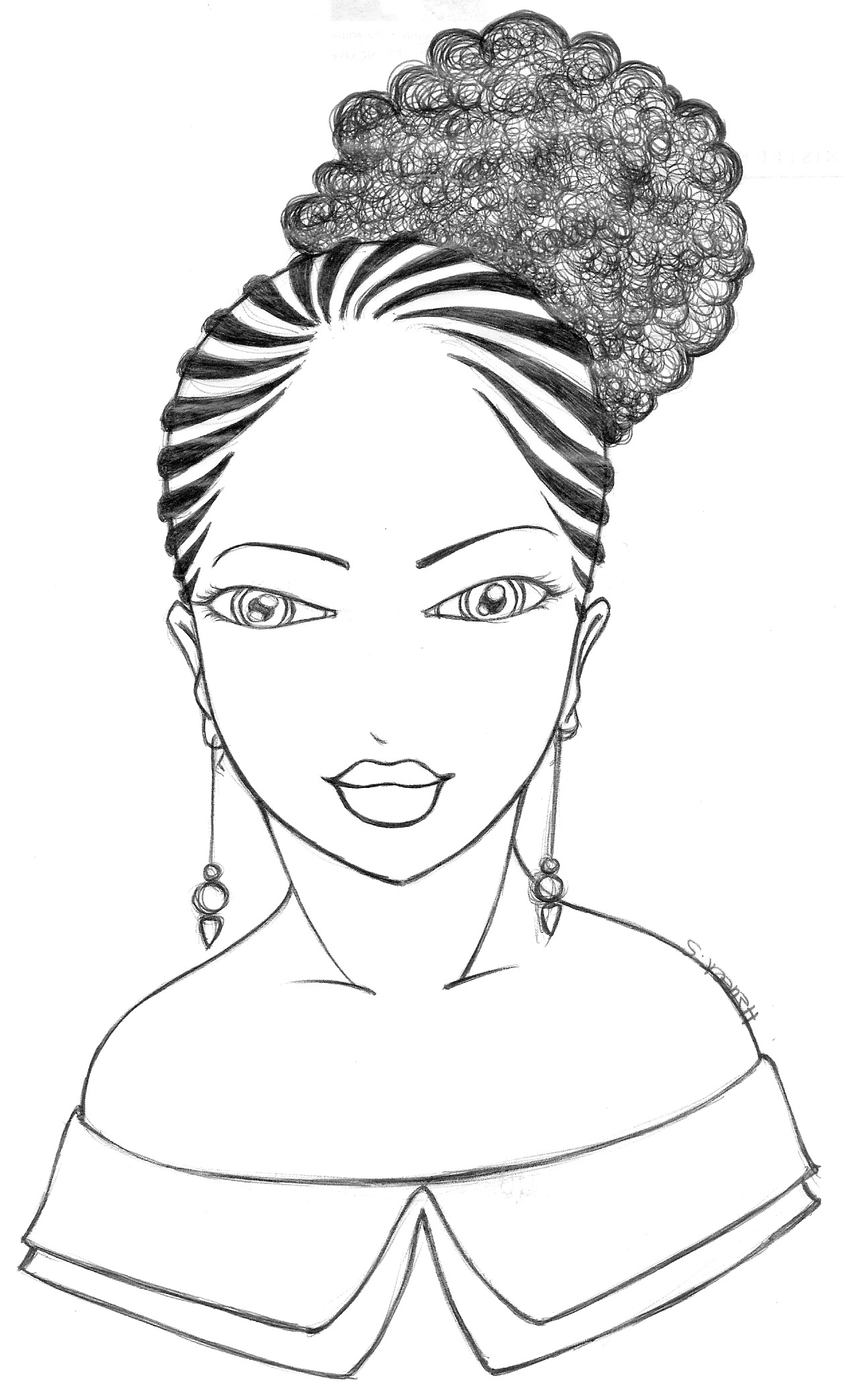 African Woman Drawing At Getdrawings