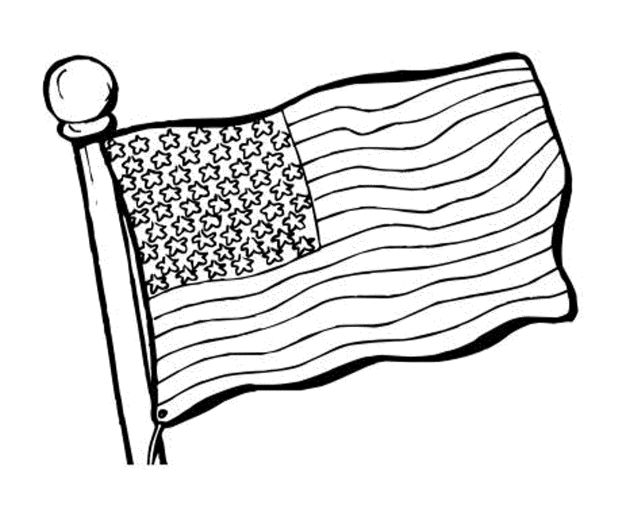 American Flag Line Drawing At Getdrawings