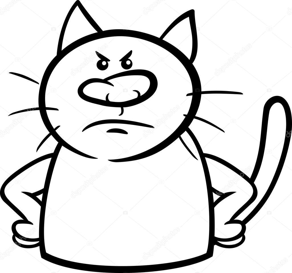 Angry Cat Drawing At Getdrawings