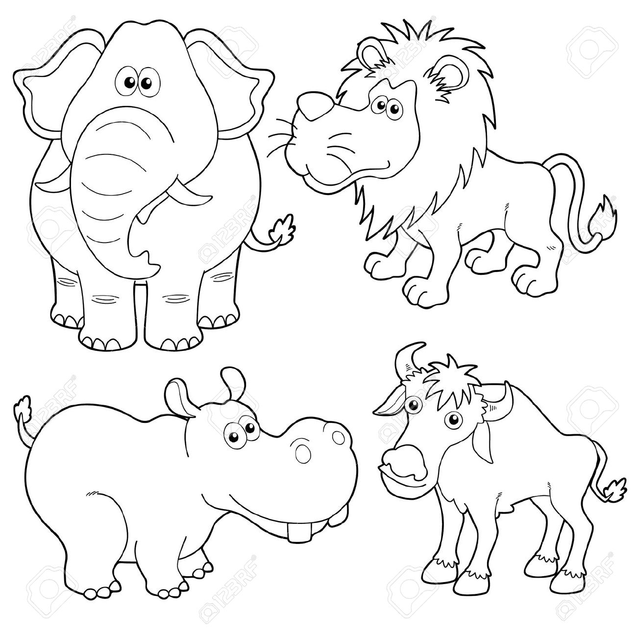 Animal Outline Drawing At Getdrawings