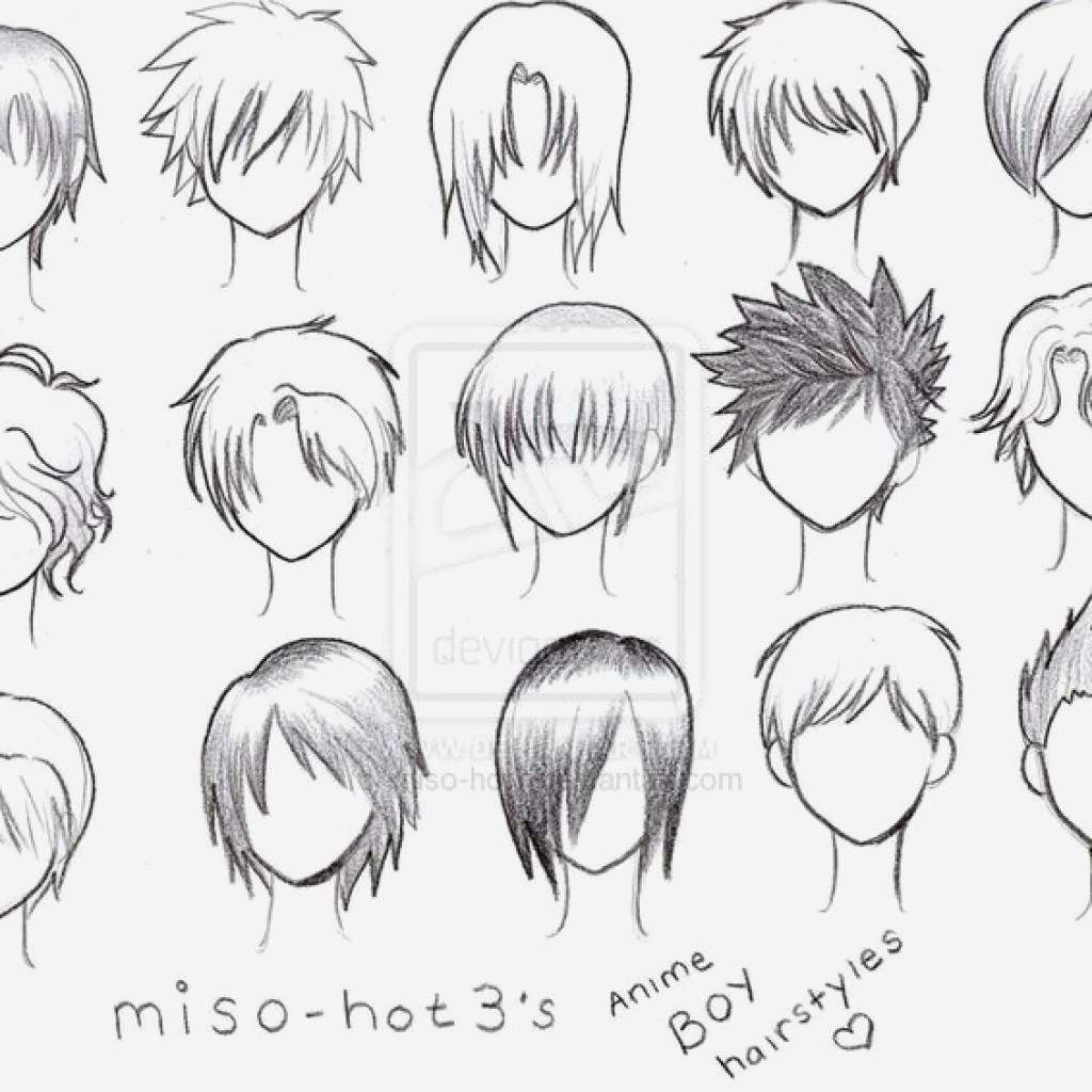 Anime Boy Hair Drawing At Getdrawings