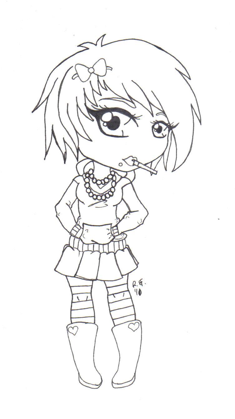 anime emo girl drawing at getdrawings  free download
