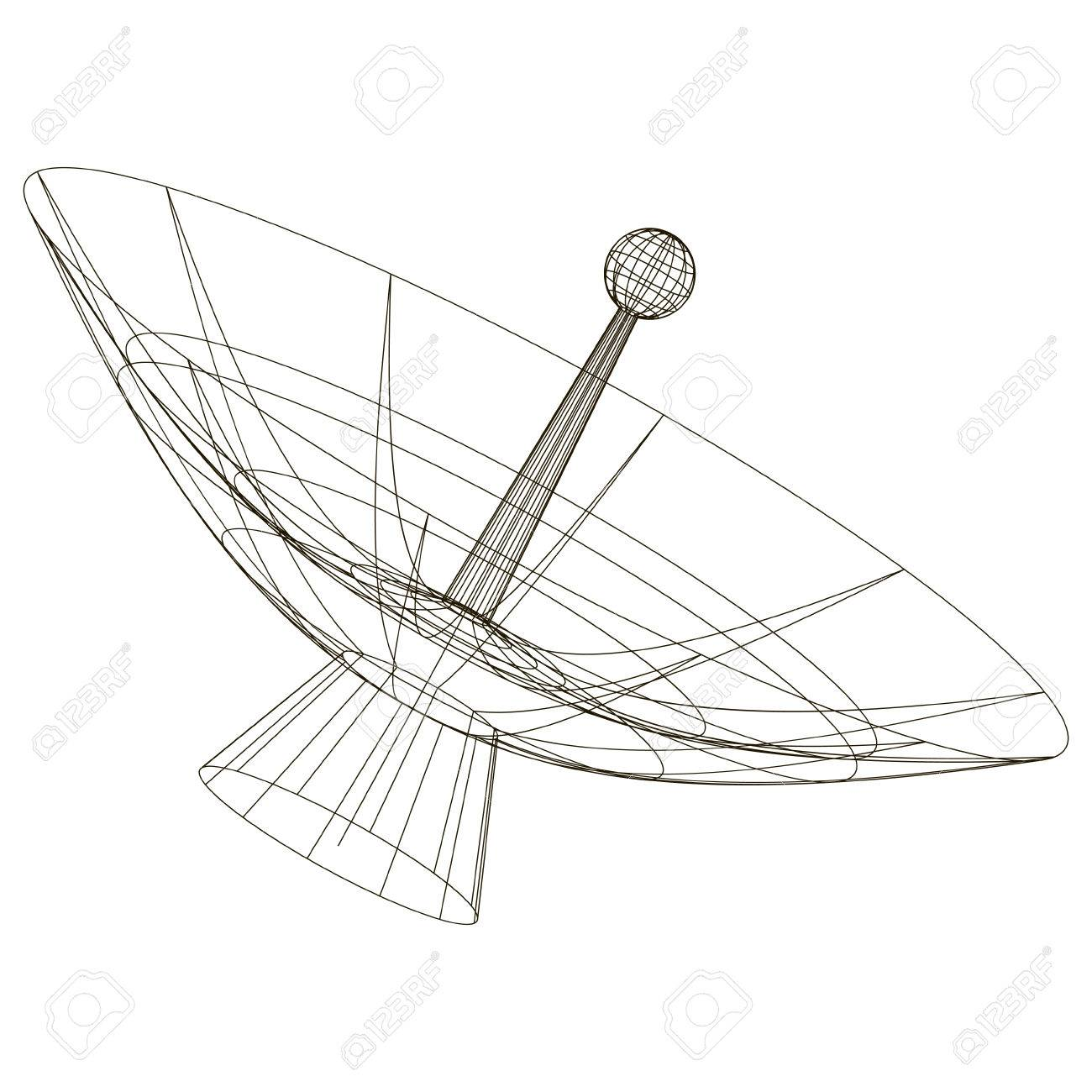 Antenna Tower Drawing At Getdrawings