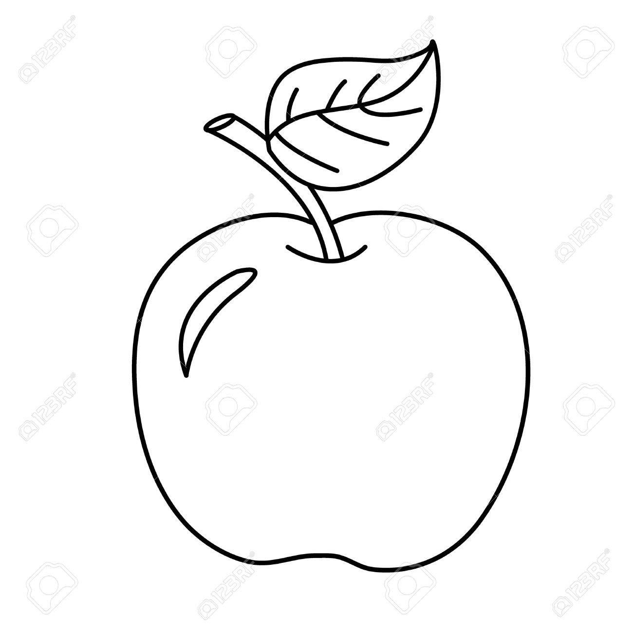 Apple Cartoon Drawing At Getdrawings