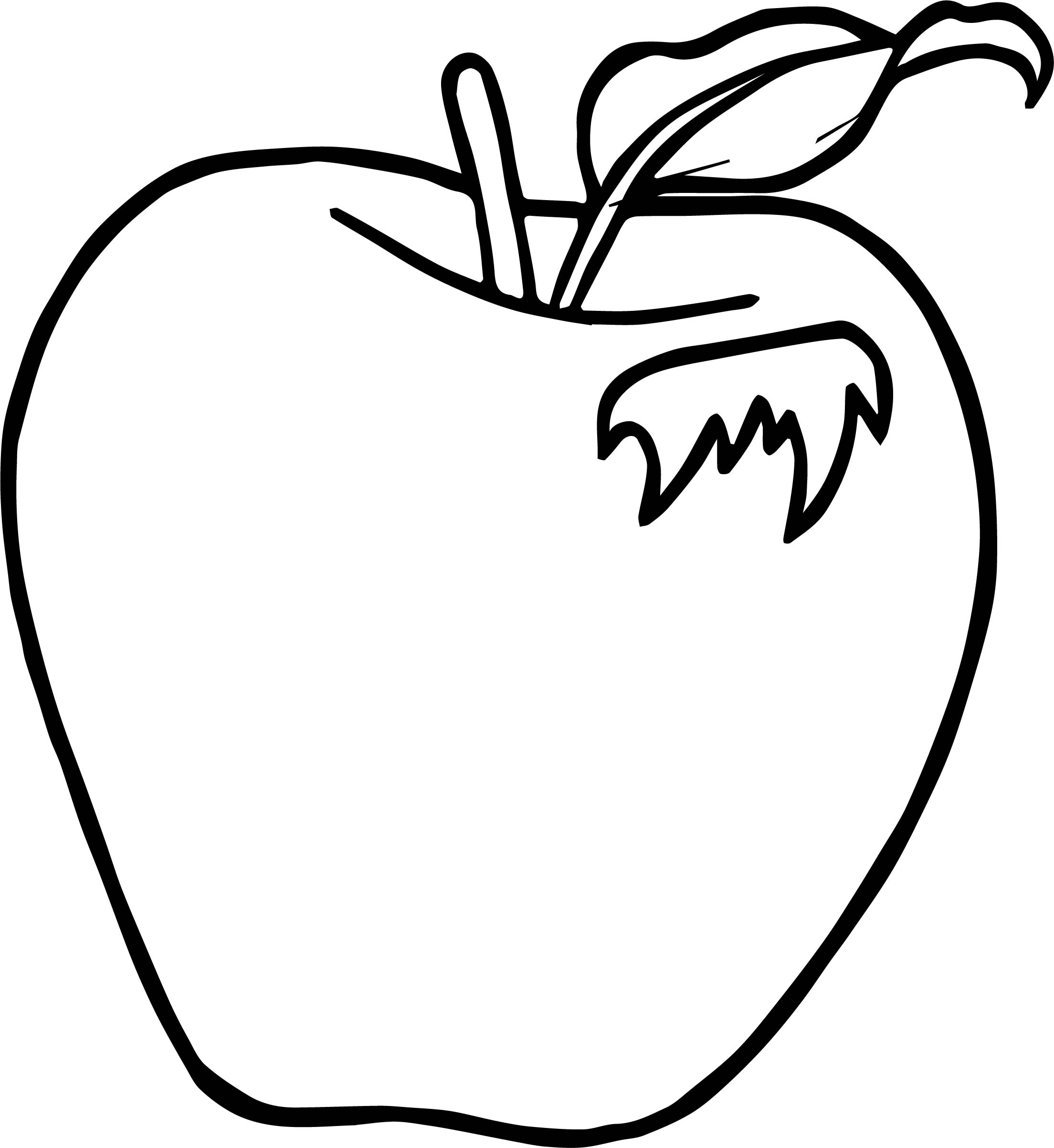 Apple Drawing For Kids At Getdrawings