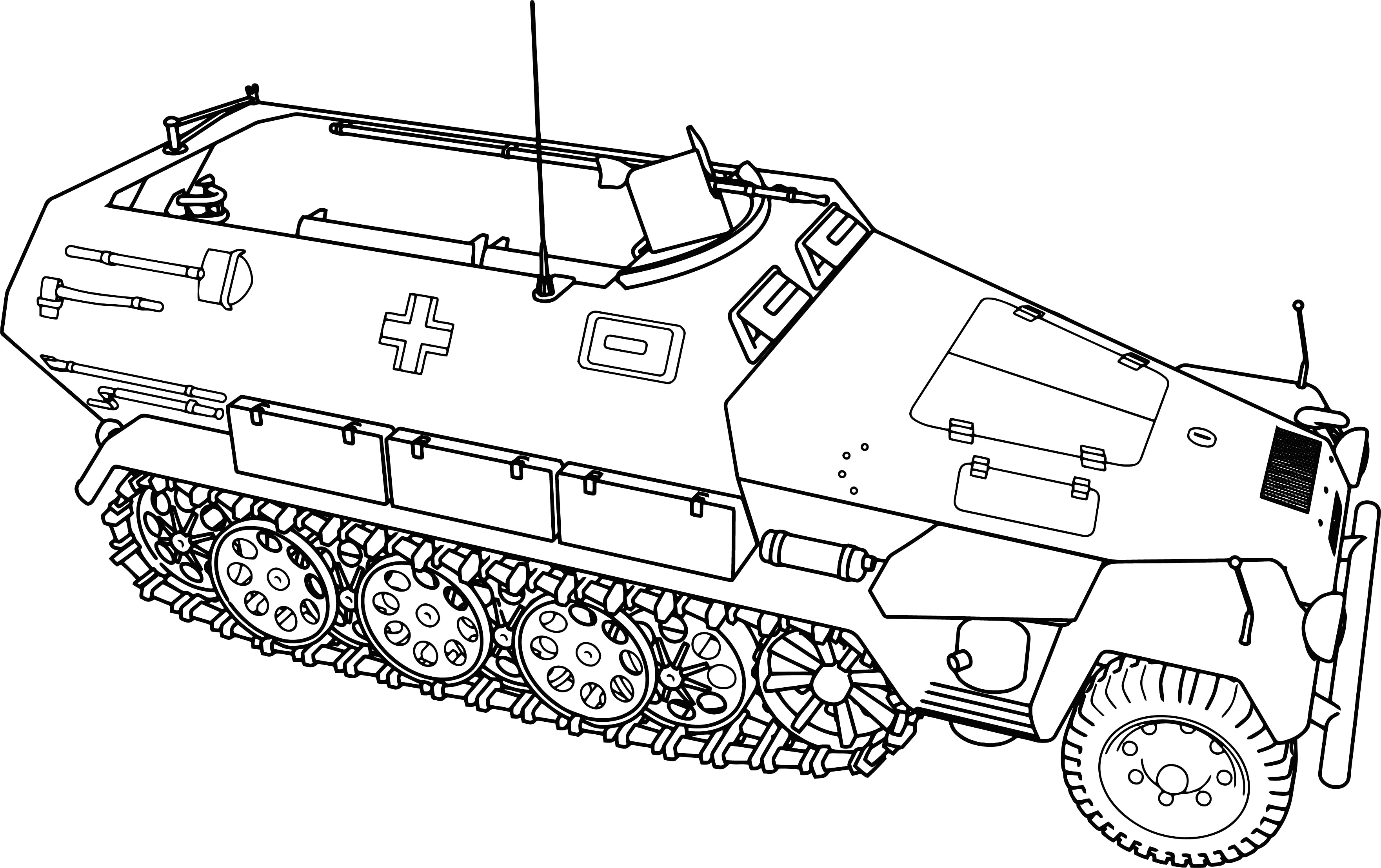 Army Tanks Drawing At Getdrawings