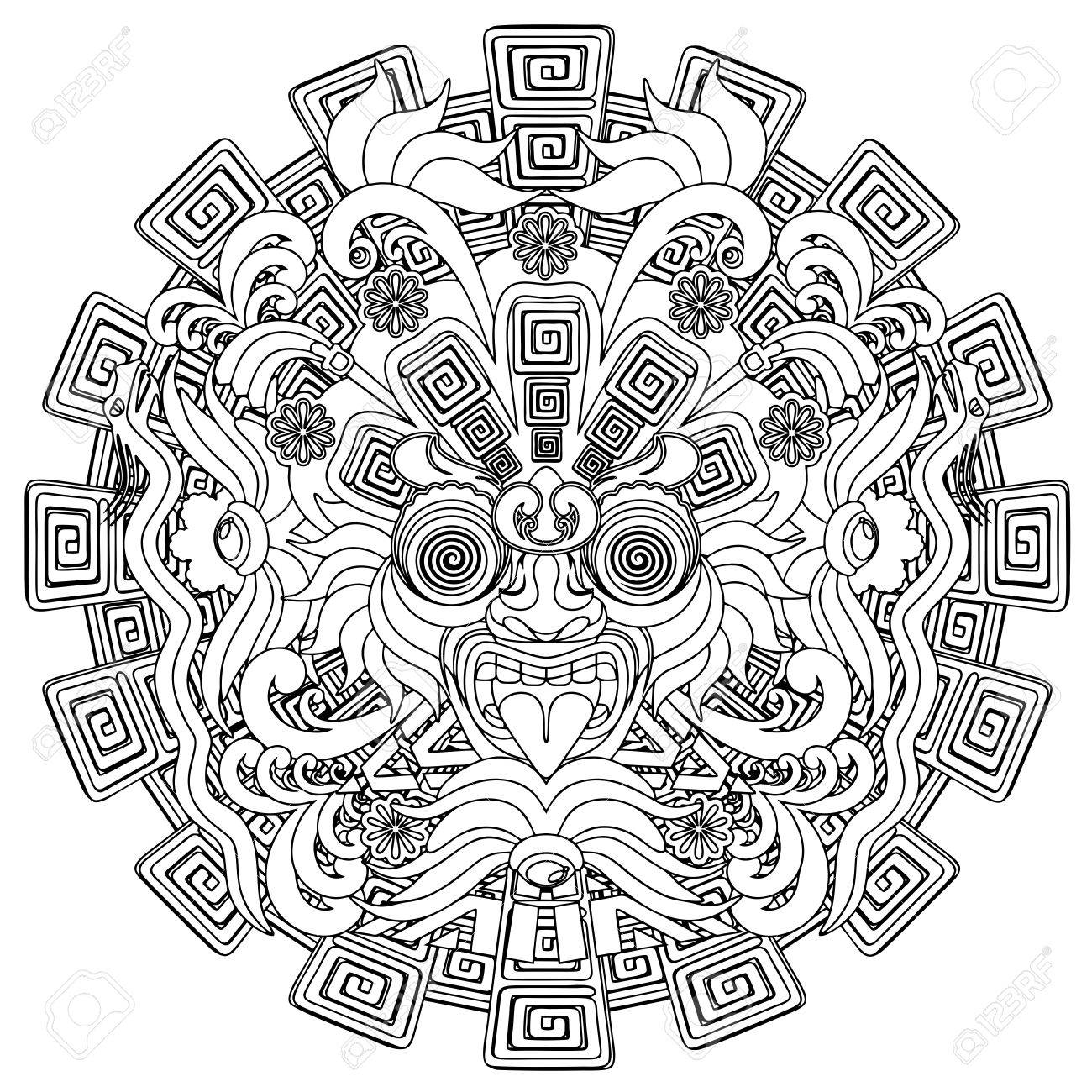 Aztec Warrior Drawing At Getdrawings