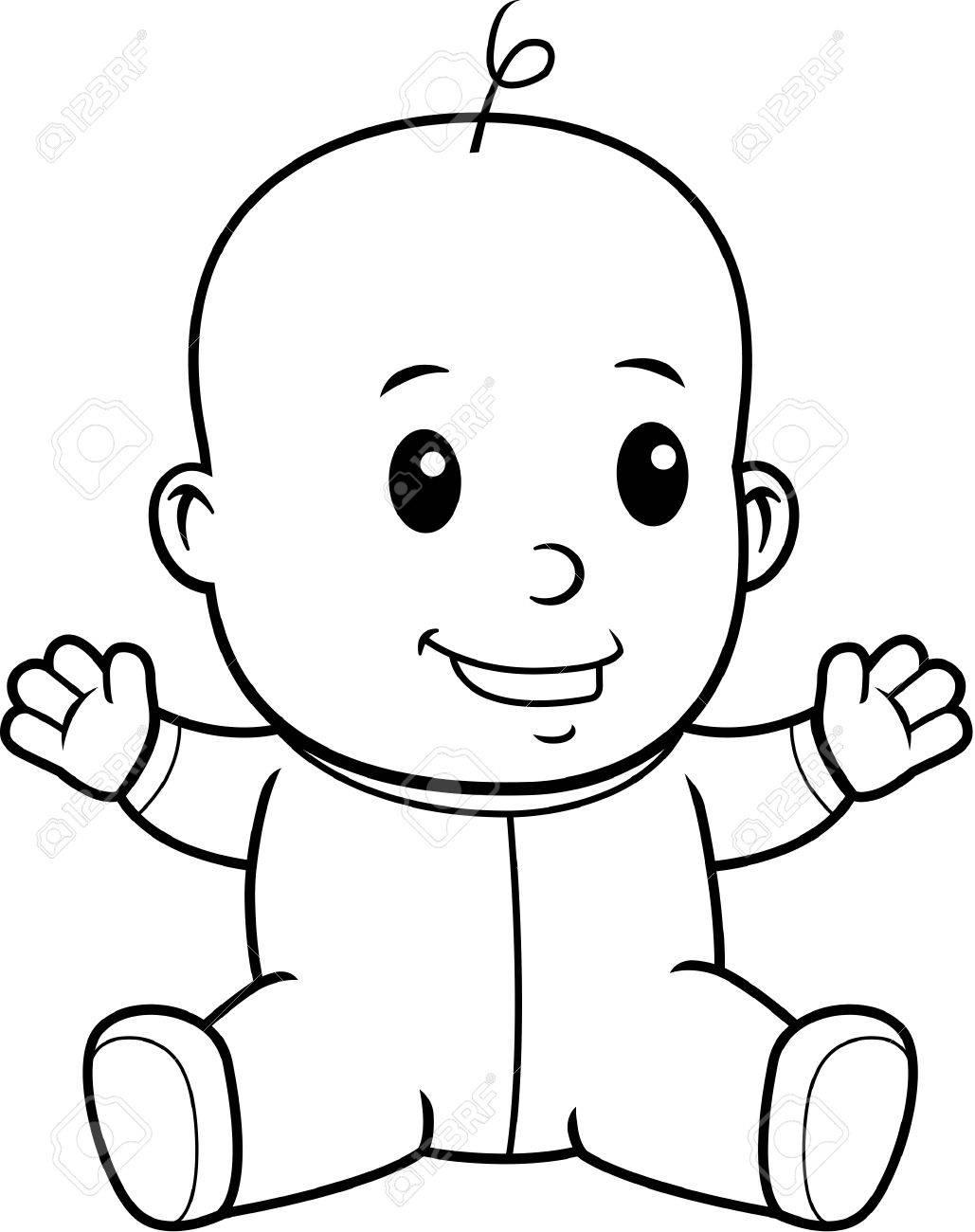 Baby Sitting Drawing At Getdrawings