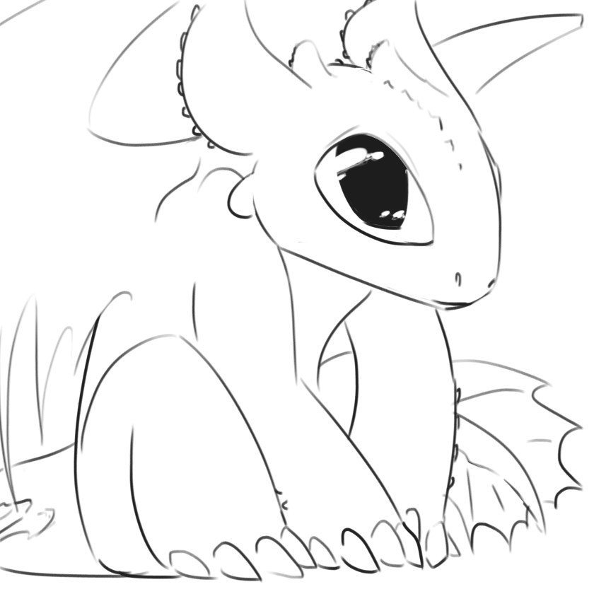 baby toothless drawing at getdrawings  free download