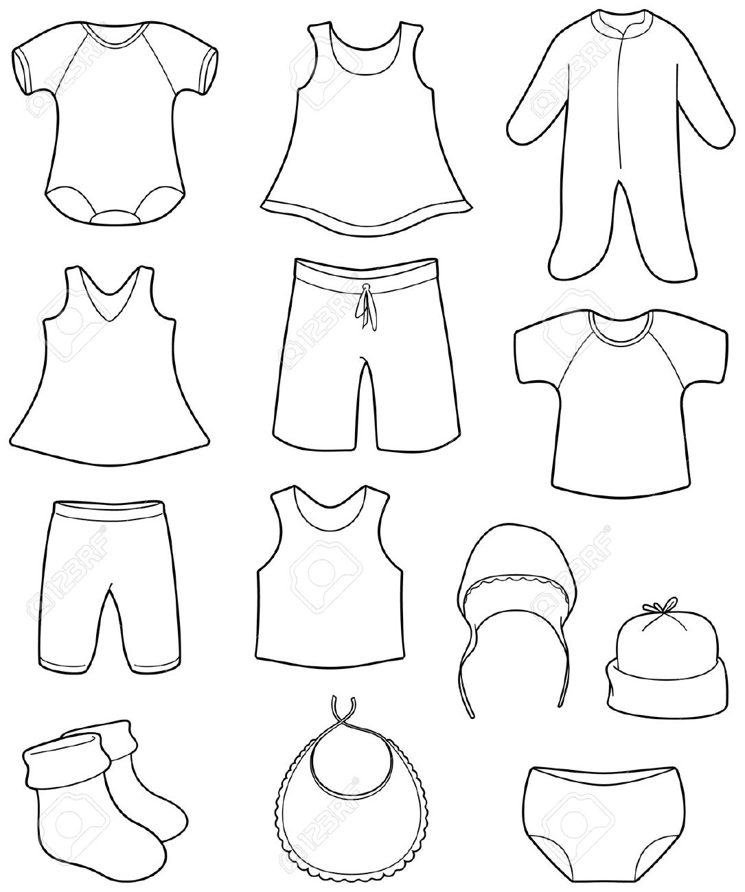 Baby Vest Drawing At Getdrawings