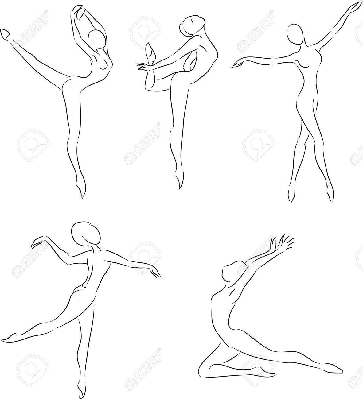 Ballerina Poses Drawing At Getdrawings
