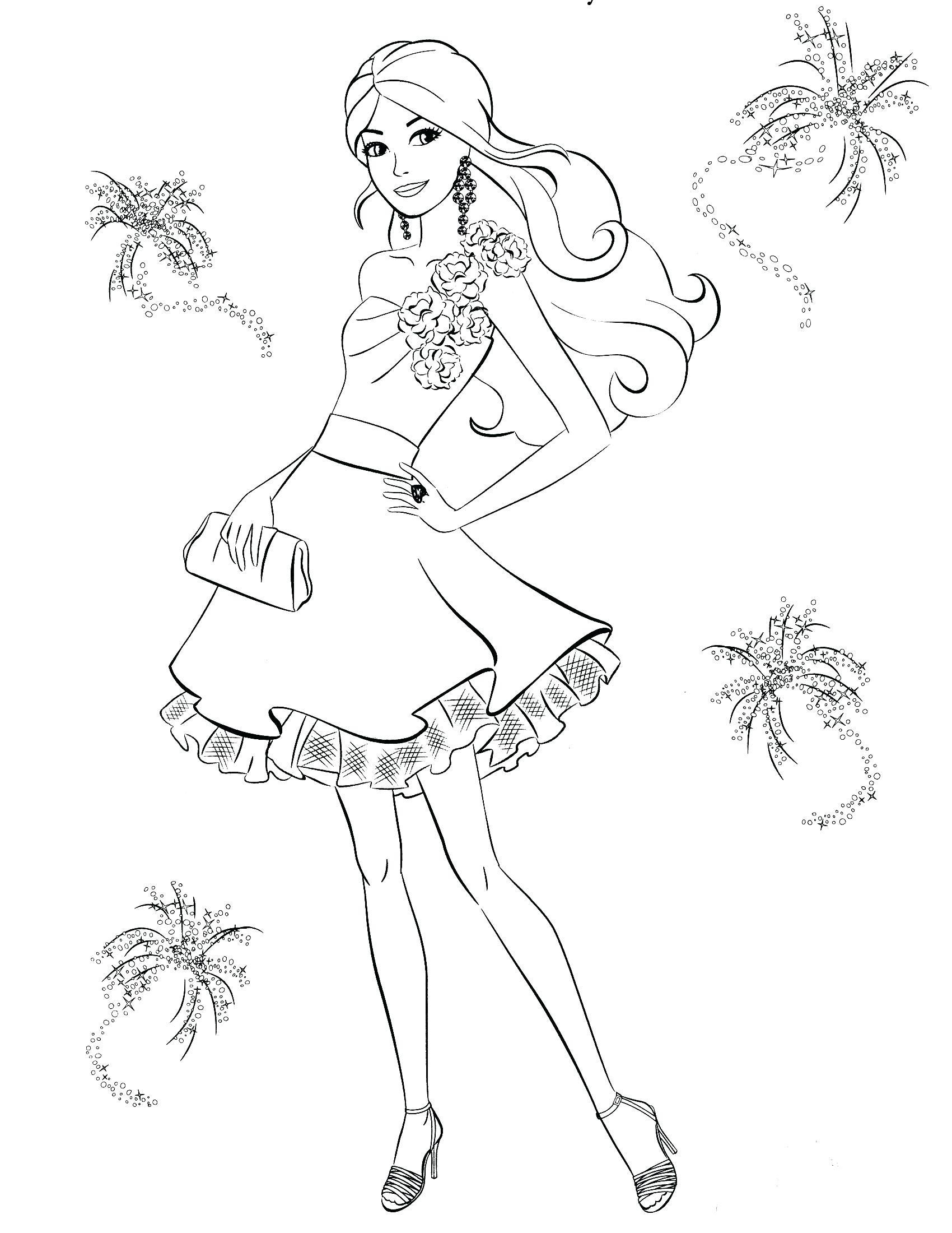 Dibujos Para Colorear De Barbie Pop Star