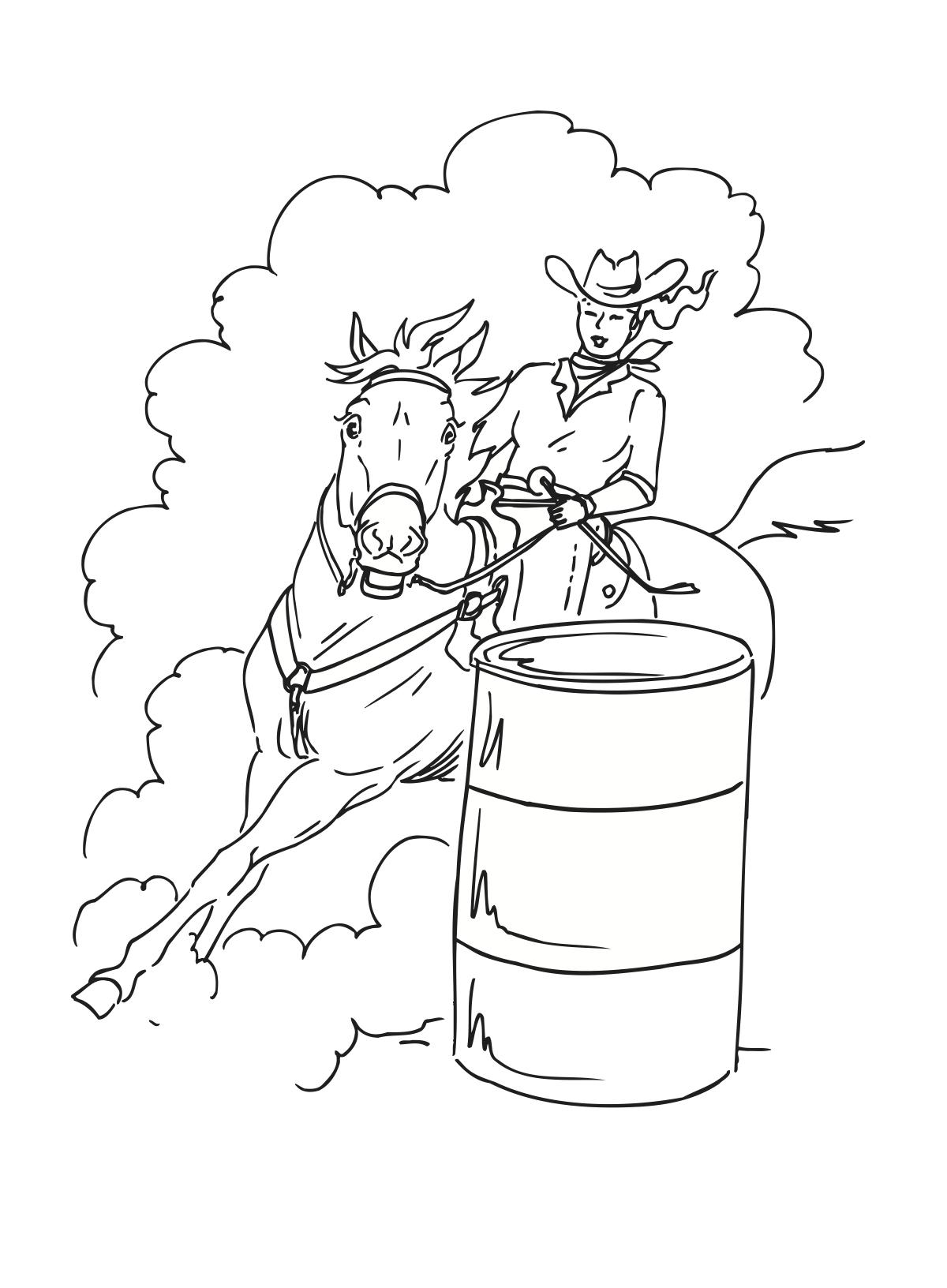 Barrel Racing Drawing At Getdrawings