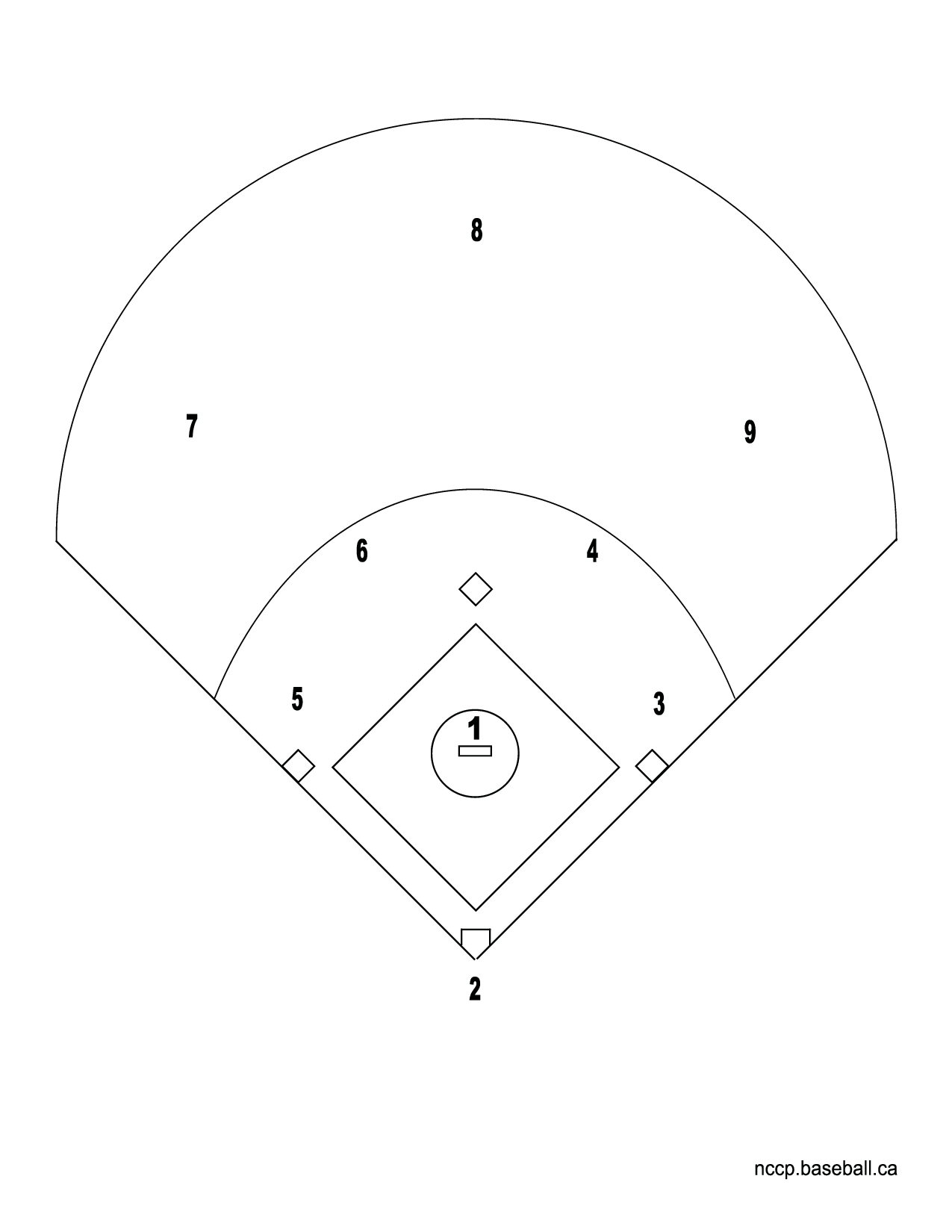 Baseball Diamond Drawing At Getdrawings