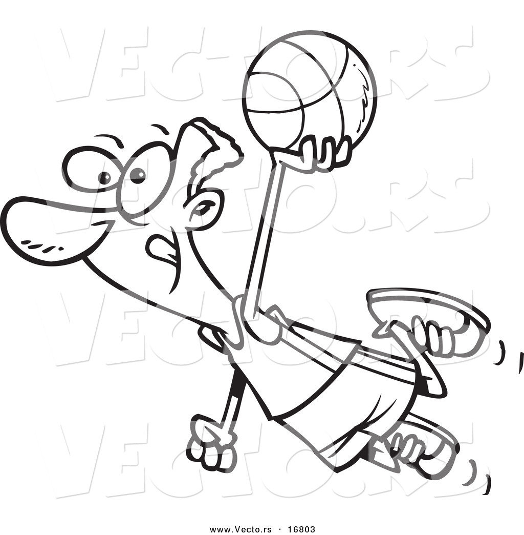 Basketball Cartoon Drawing At Getdrawings