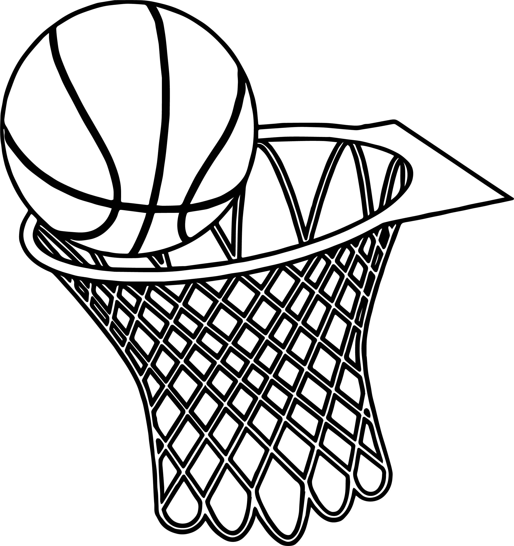 Basketball Goal Drawing At Getdrawings