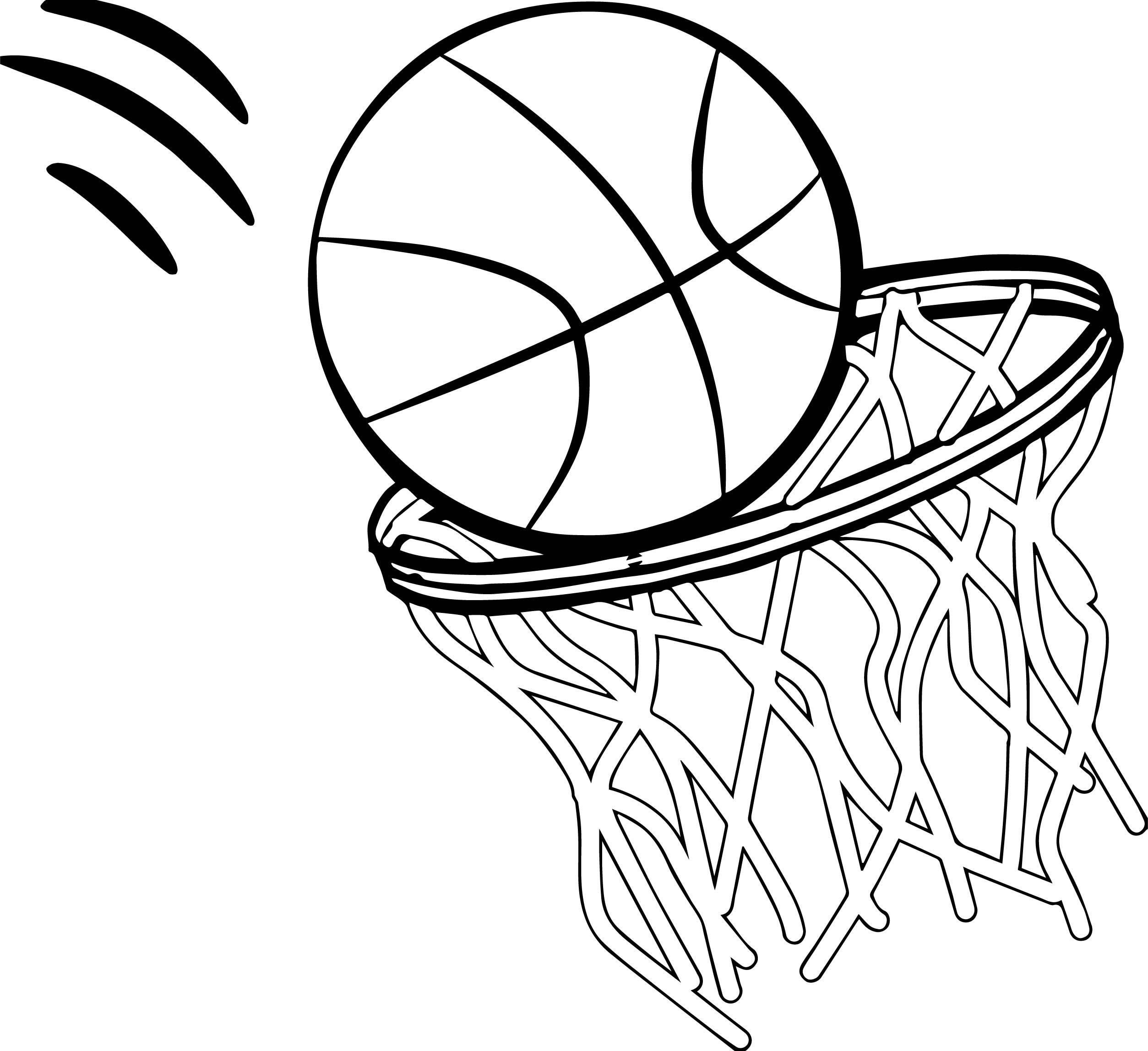 Basketball Rim Drawing At Getdrawings