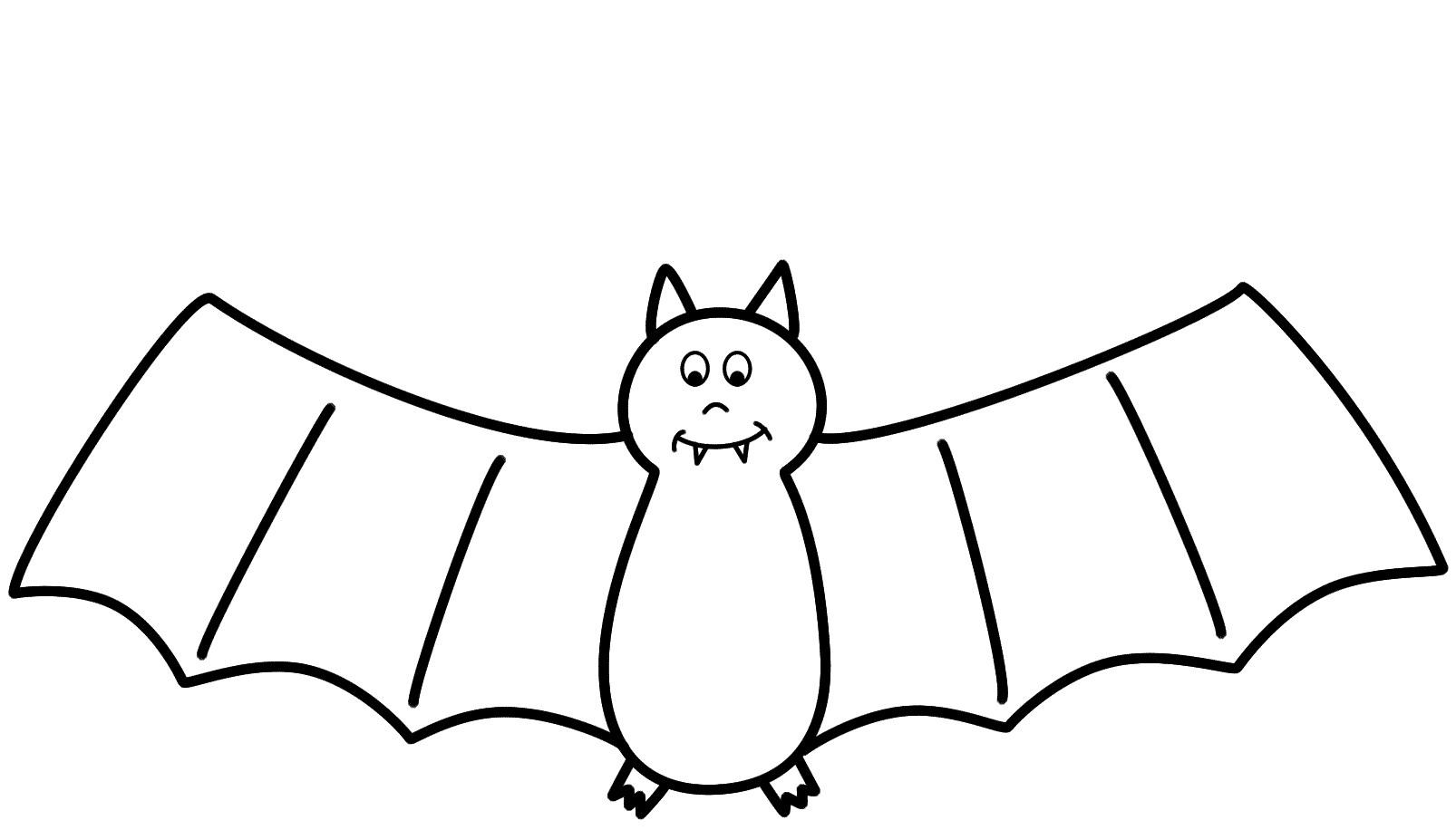 Bat Drawing Outline At Getdrawings