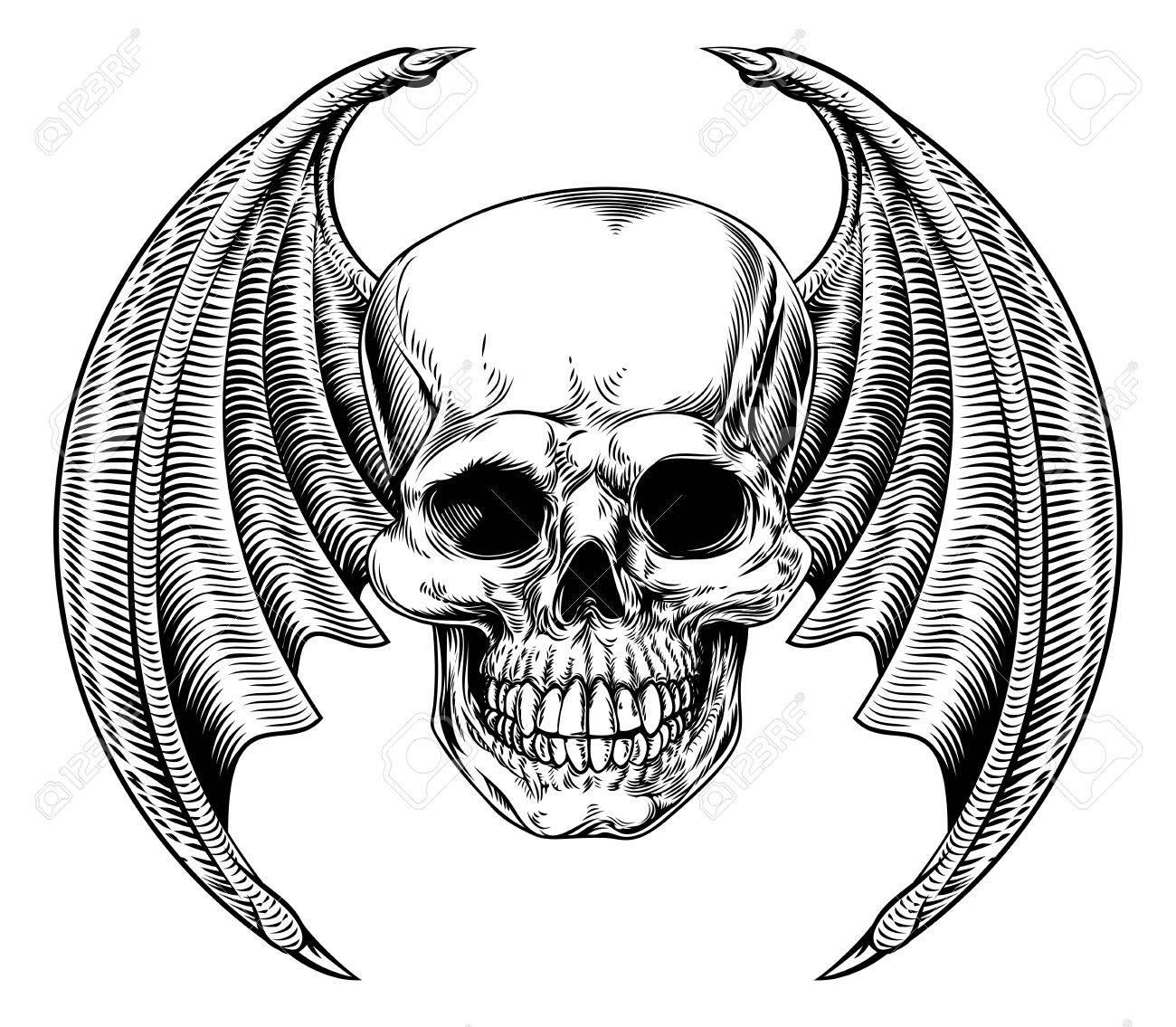 Bat skeleton drawing