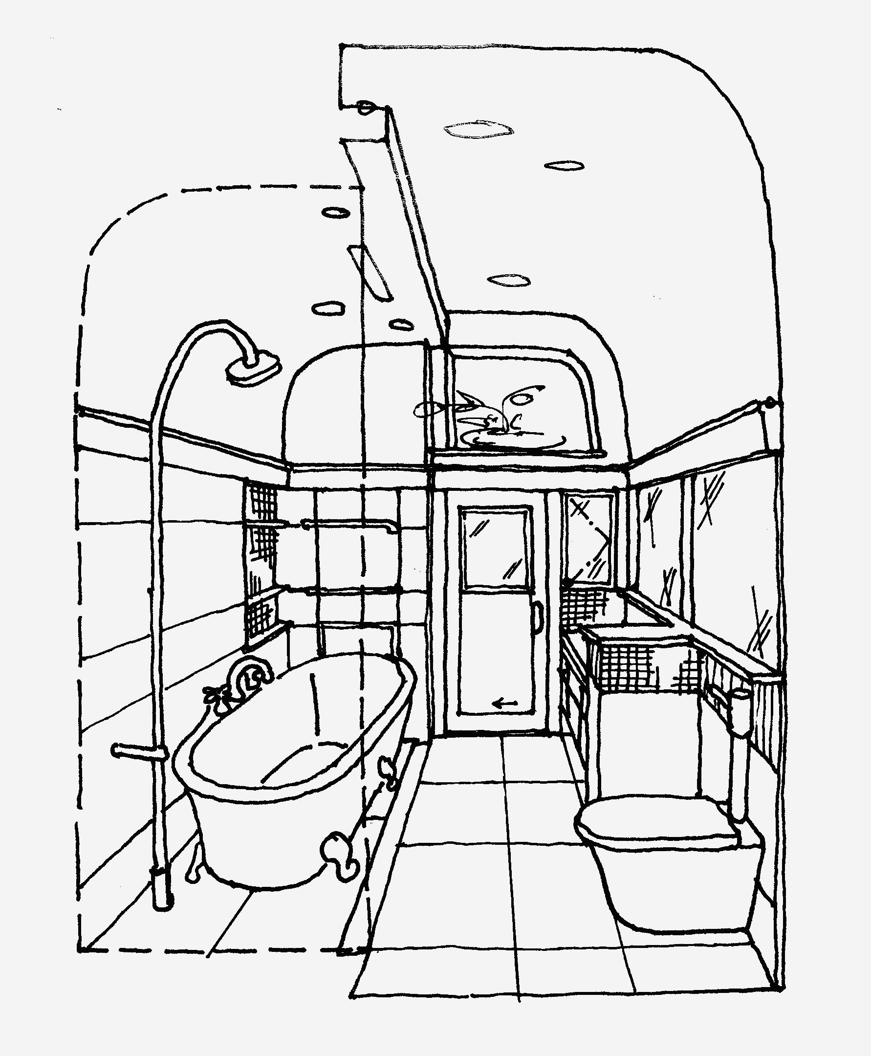 The Best Free Bathroom Drawing Images Download From 417