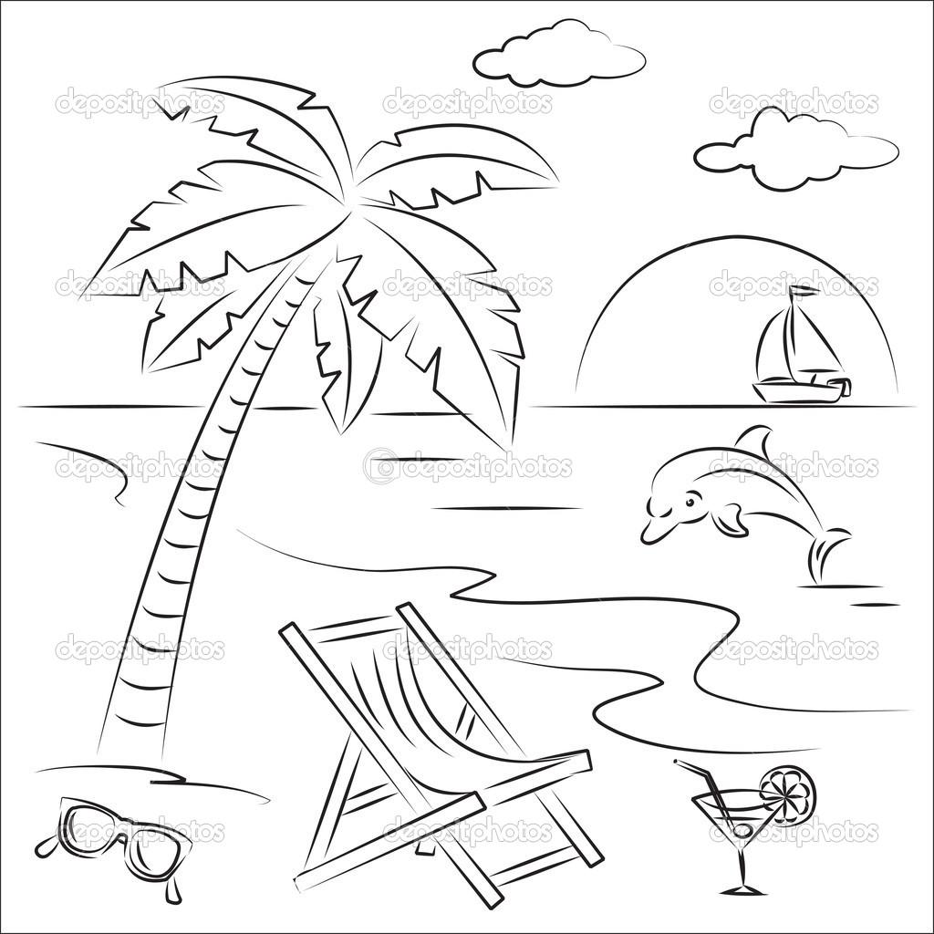 Beach Drawing At Getdrawings