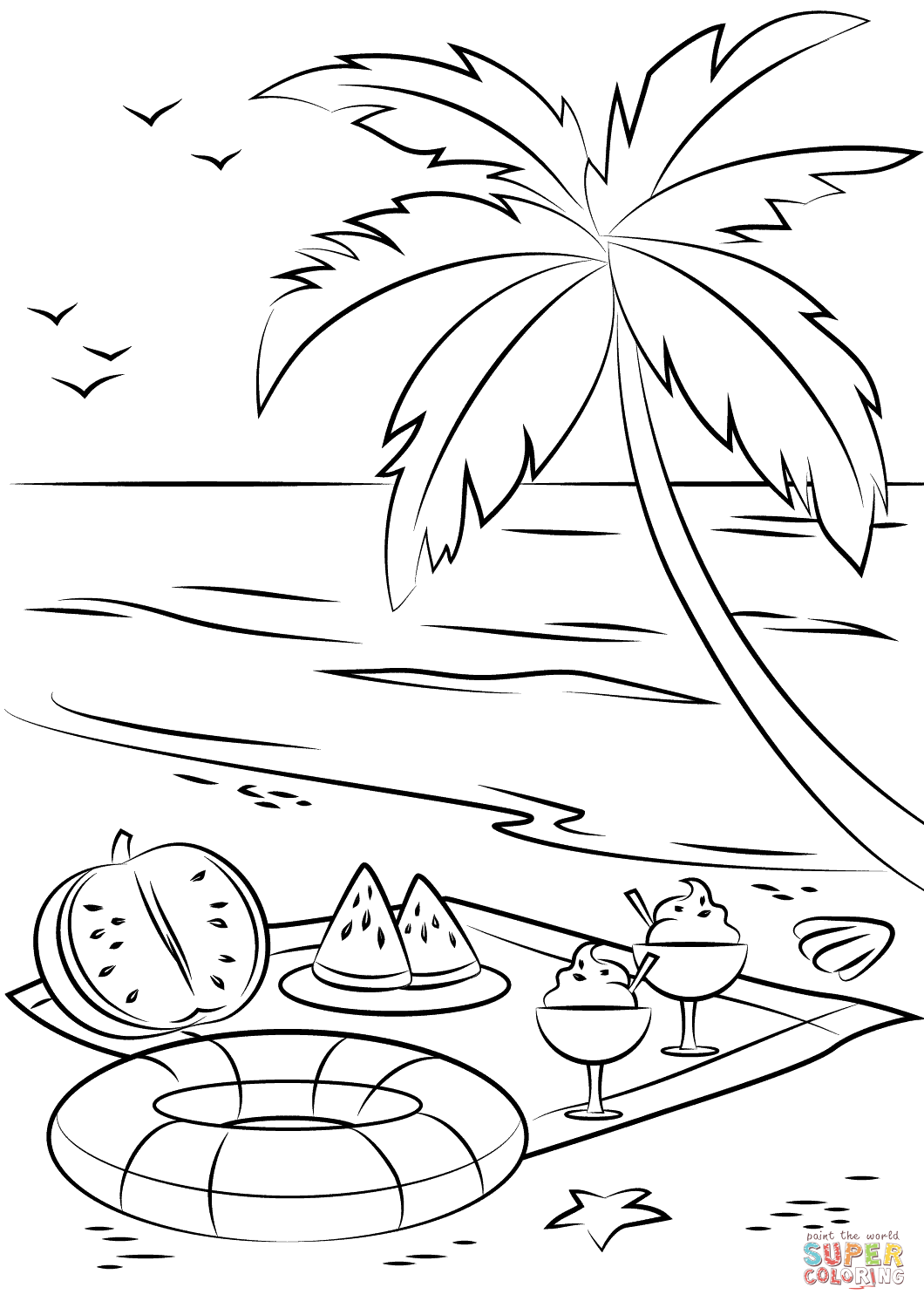 Beach Drawing Pictures At Getdrawings