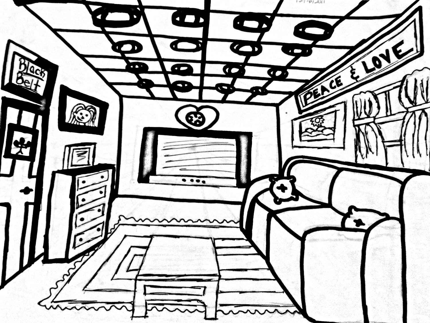 Bedroom Line Drawing At Getdrawings