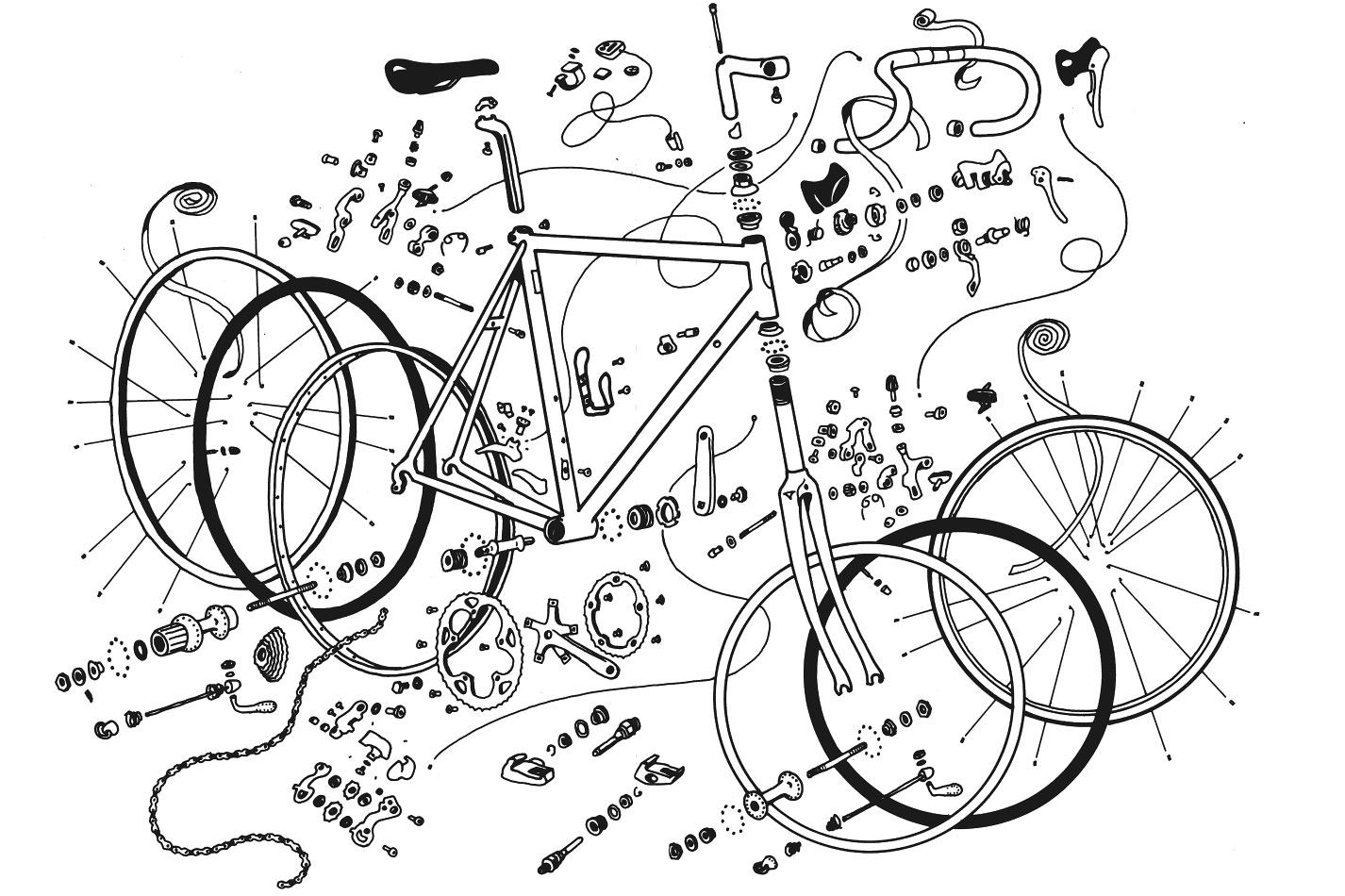 Easy Bicycle Drawing At Getdrawings