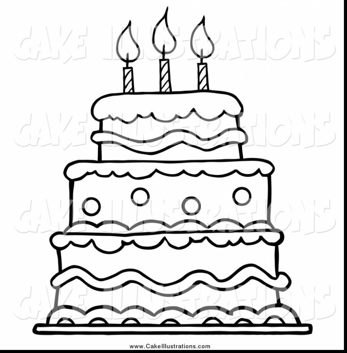 Birthday Cake Drawing Step By Step At Getdrawings