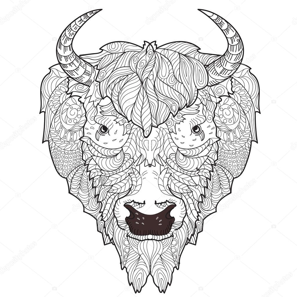 Bison Skull Drawing At Getdrawings