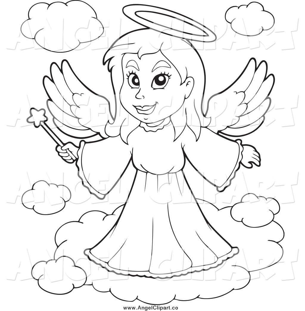 Black And White Angel Drawing At Getdrawings