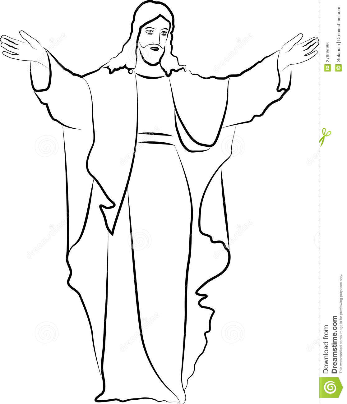 Black And White Drawing Of Jesus At Getdrawings