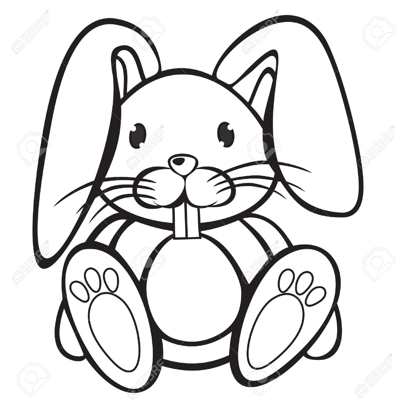 Black And White Rabbit Drawing at GetDrawings | Free download (1264 x 1300 Pixel)