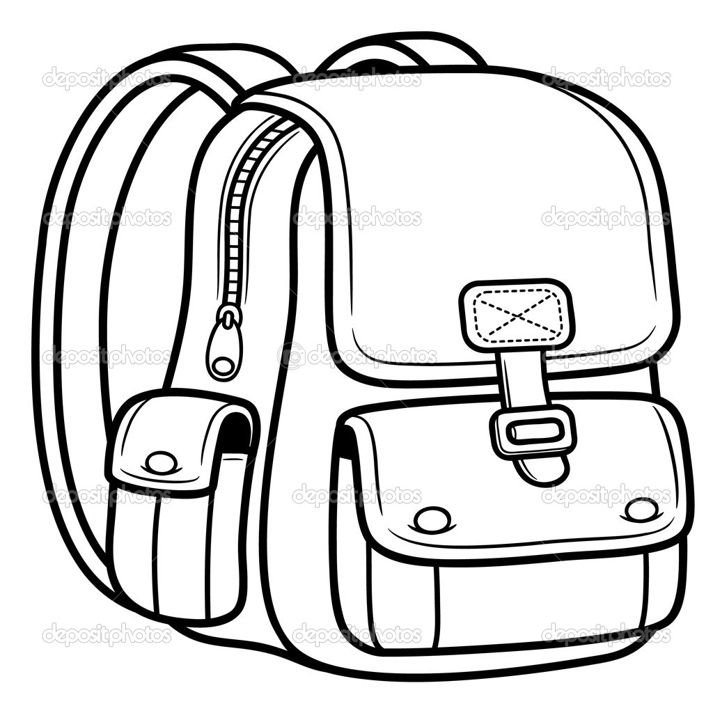 Bookbag Drawing At Getdrawings