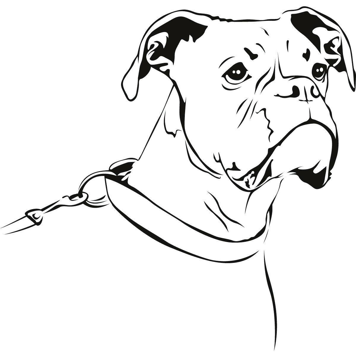 Boxer Dog Drawing At Getdrawings