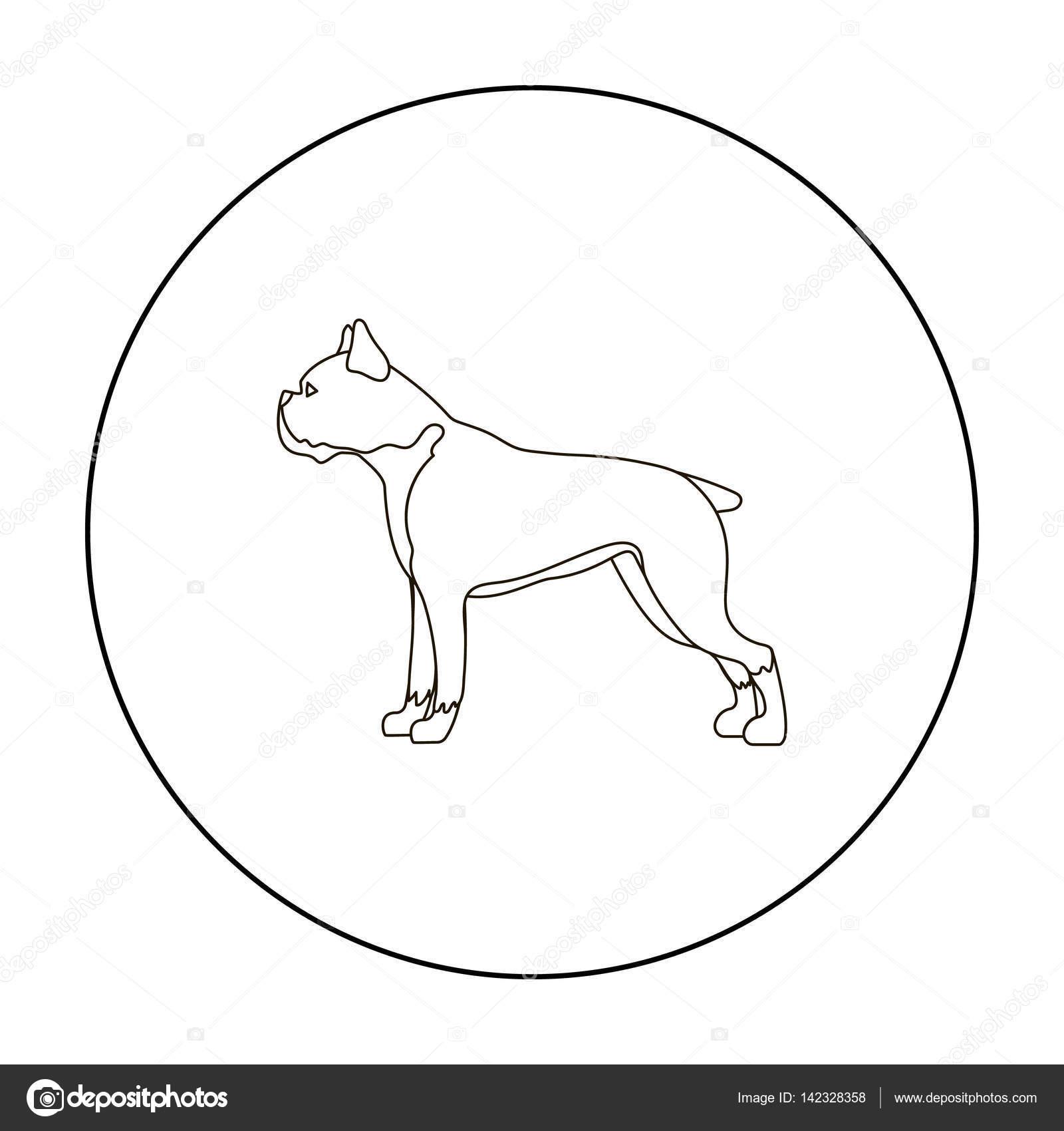 Boxer Dog Line Drawing At Getdrawings