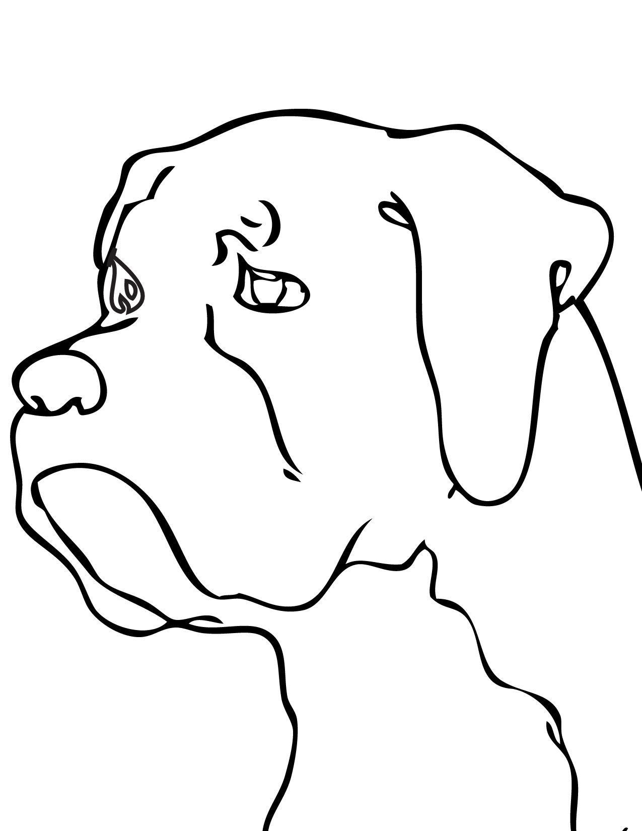 Boxer Dog Line Drawing At Getdrawings